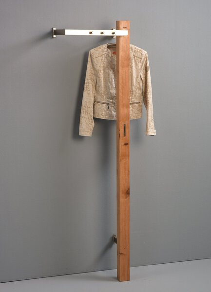 Garderobe M2 Kollektion Holz Wildeiche massiv geölt ca. 35 cm x 190 cm x 48 cm