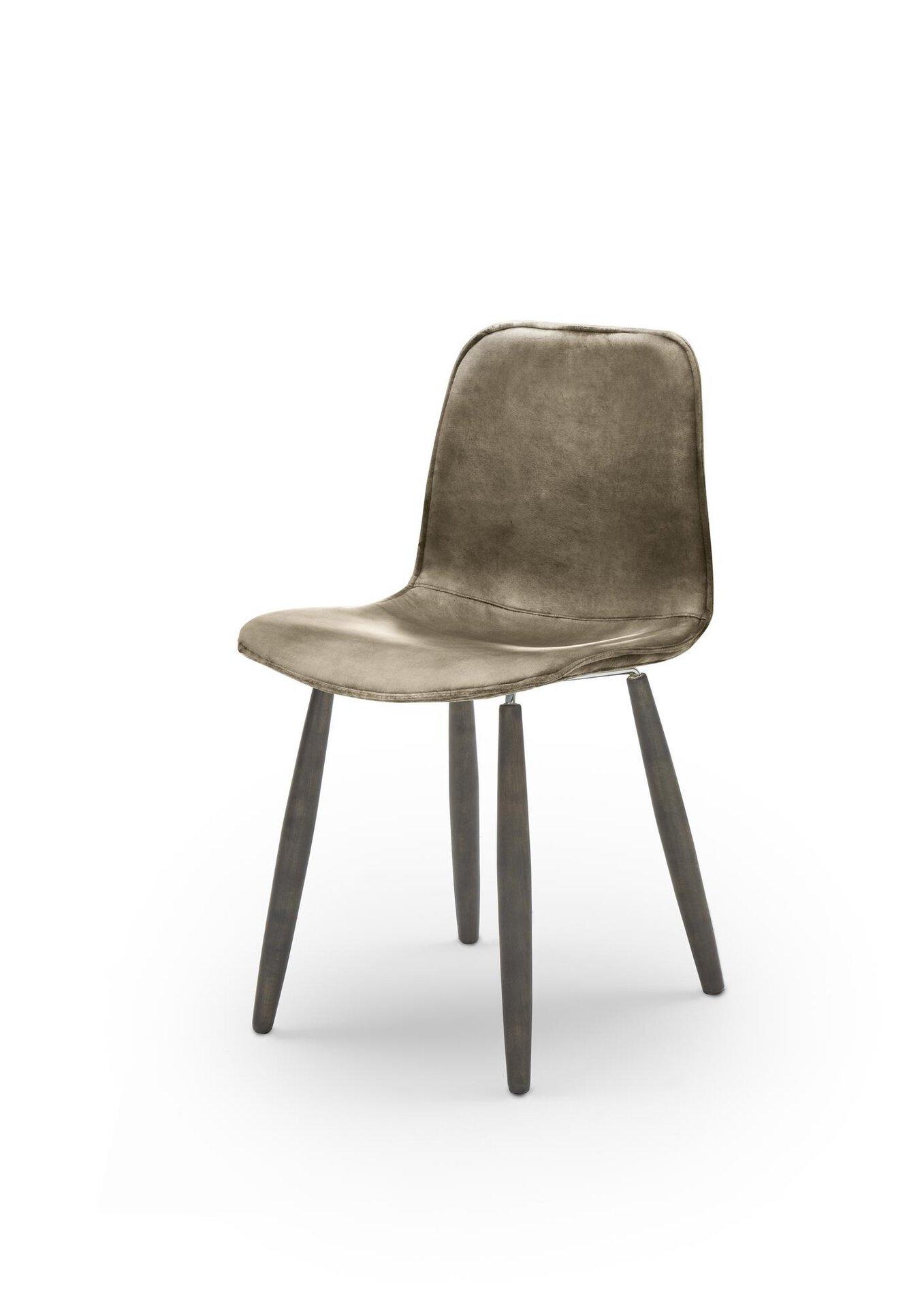 4-Fuß-Stuhl WK7001 Felix WK Wohnen Edition Leder braun 52 x 80 x 47 cm