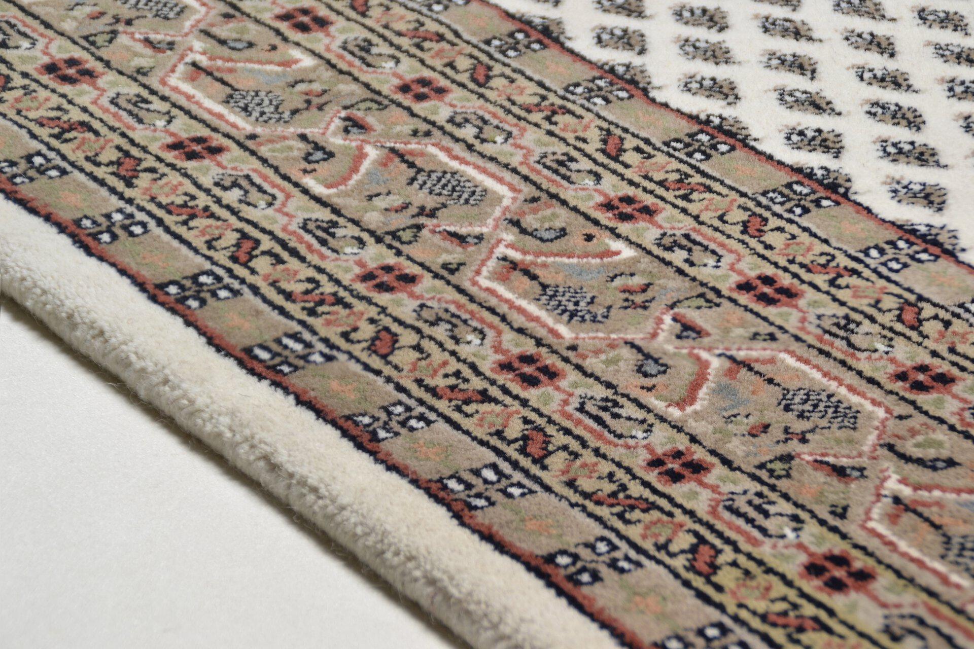 Handknüpfteppich Panipat Theko Textil braun 1 x 1 cm