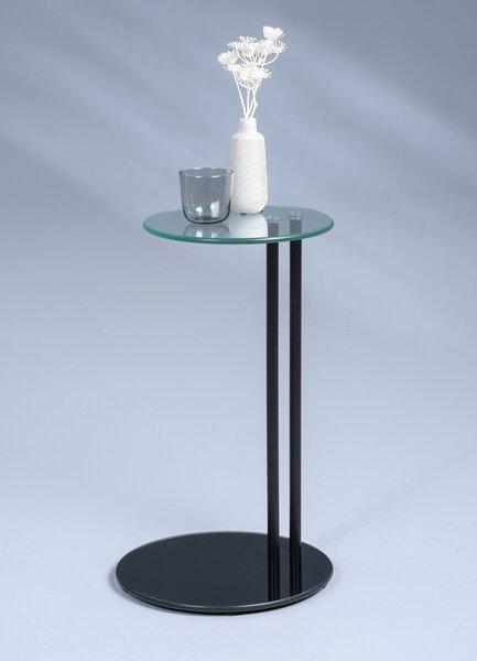 Beistelltisch M2 Kollektion Glas, Metall schwarz lackiert ca. 35 cm x 58 cm x 35 cm