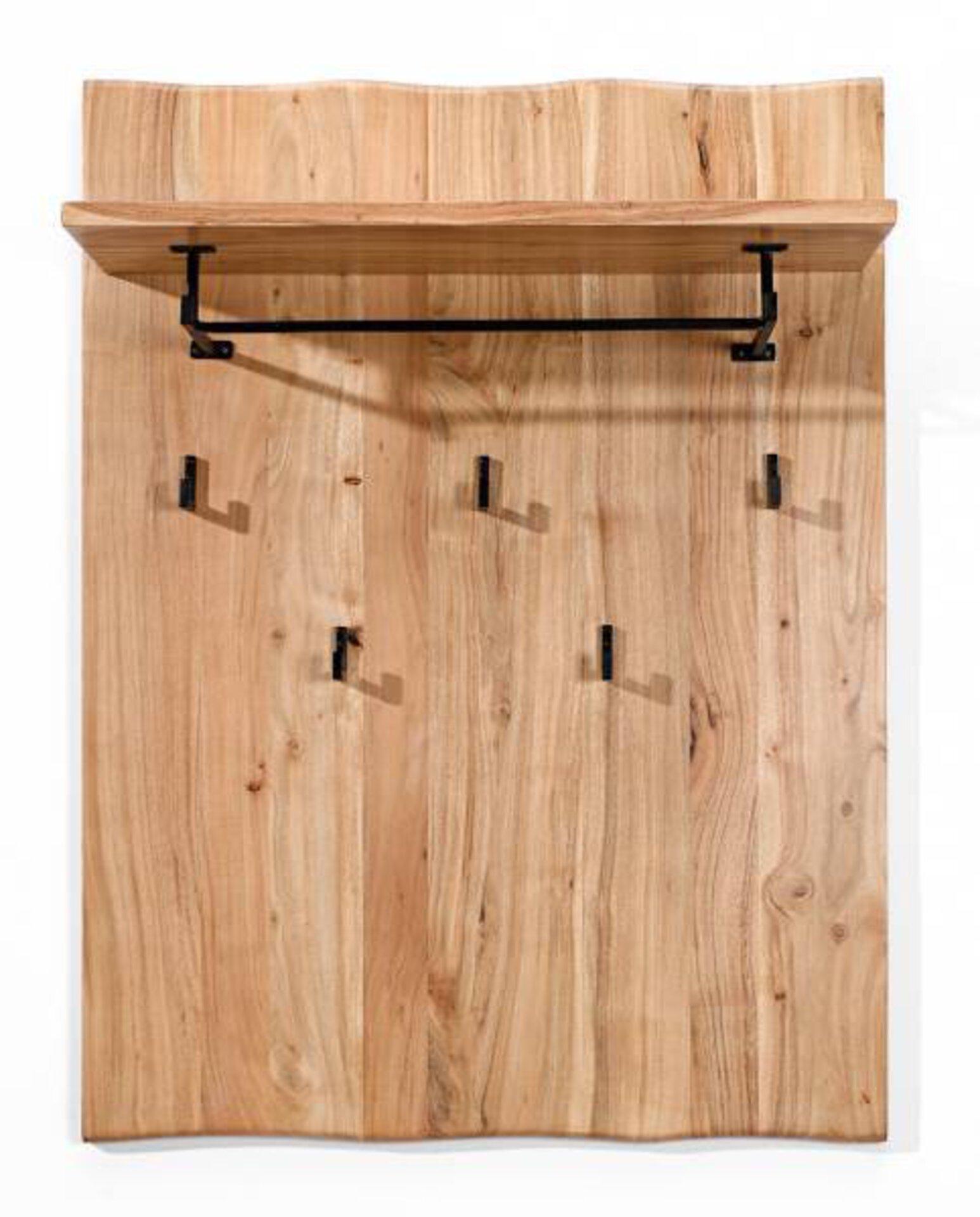 Garderobenpaneel Edge Vito Holz braun 30 x 120 x 90 cm
