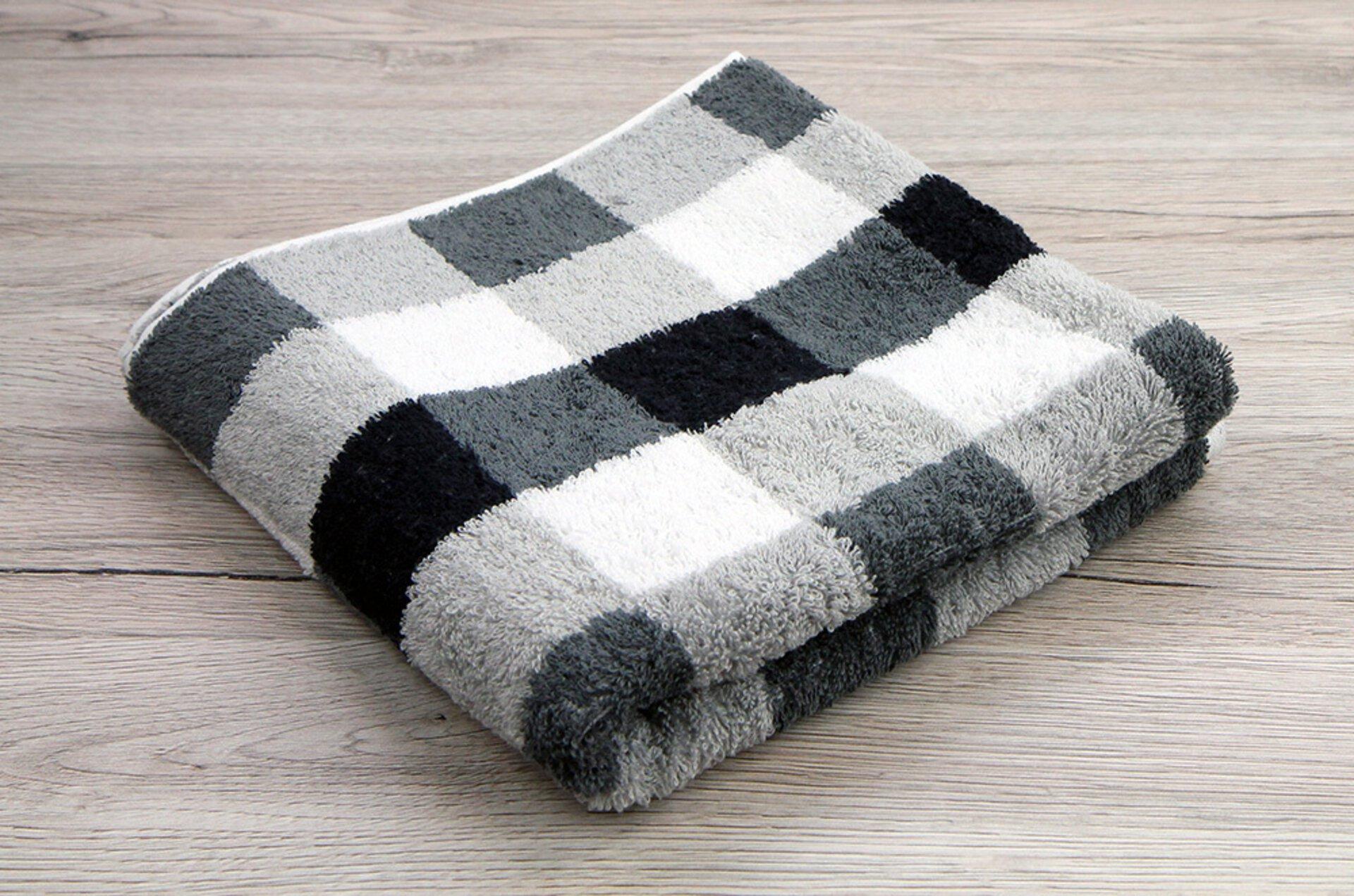 Duschtuch Karo Cawö Textil 70 x 140 cm