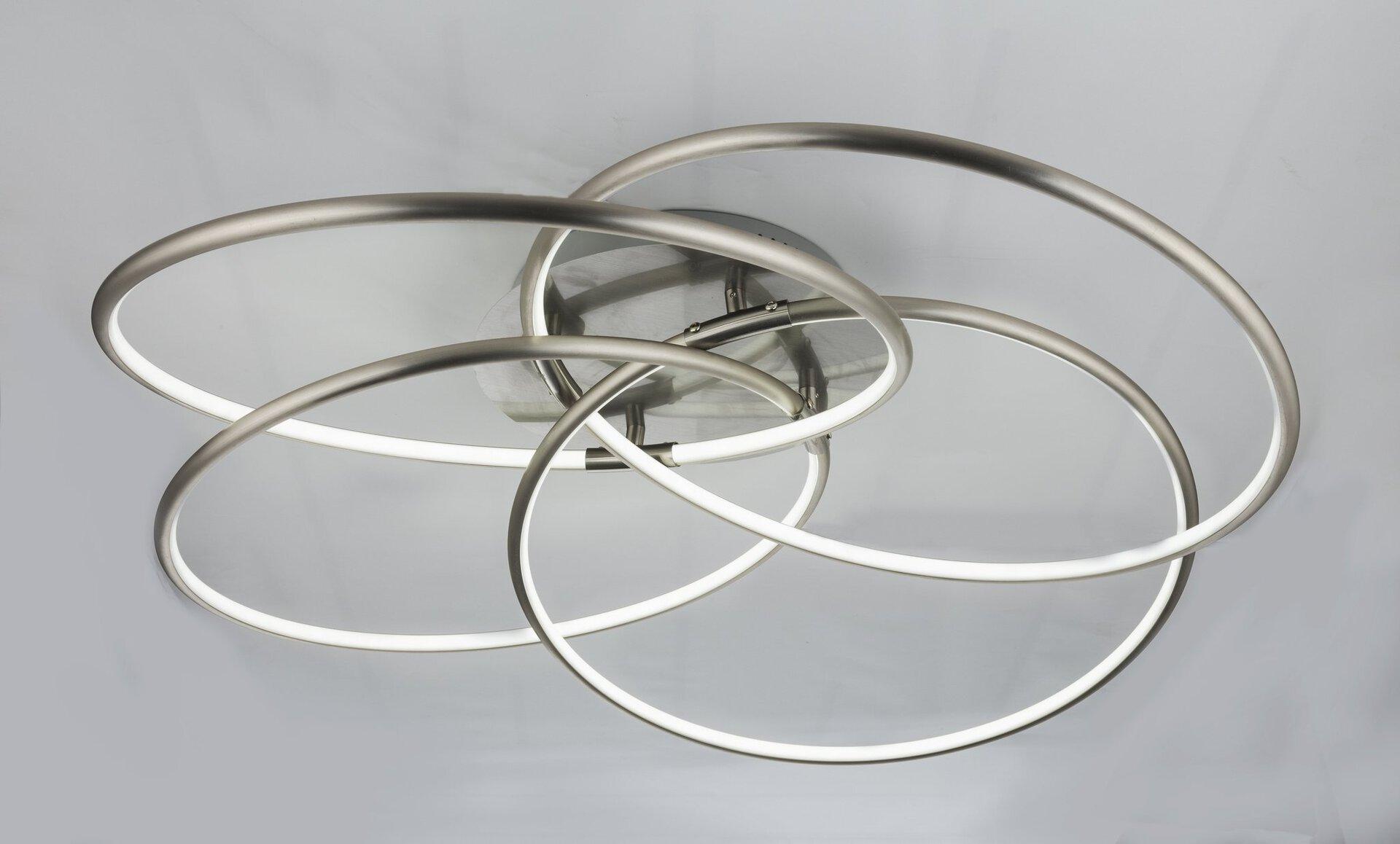 Deckenleuchte BARNA Globo Metall silber 85 x 21 x 85 cm