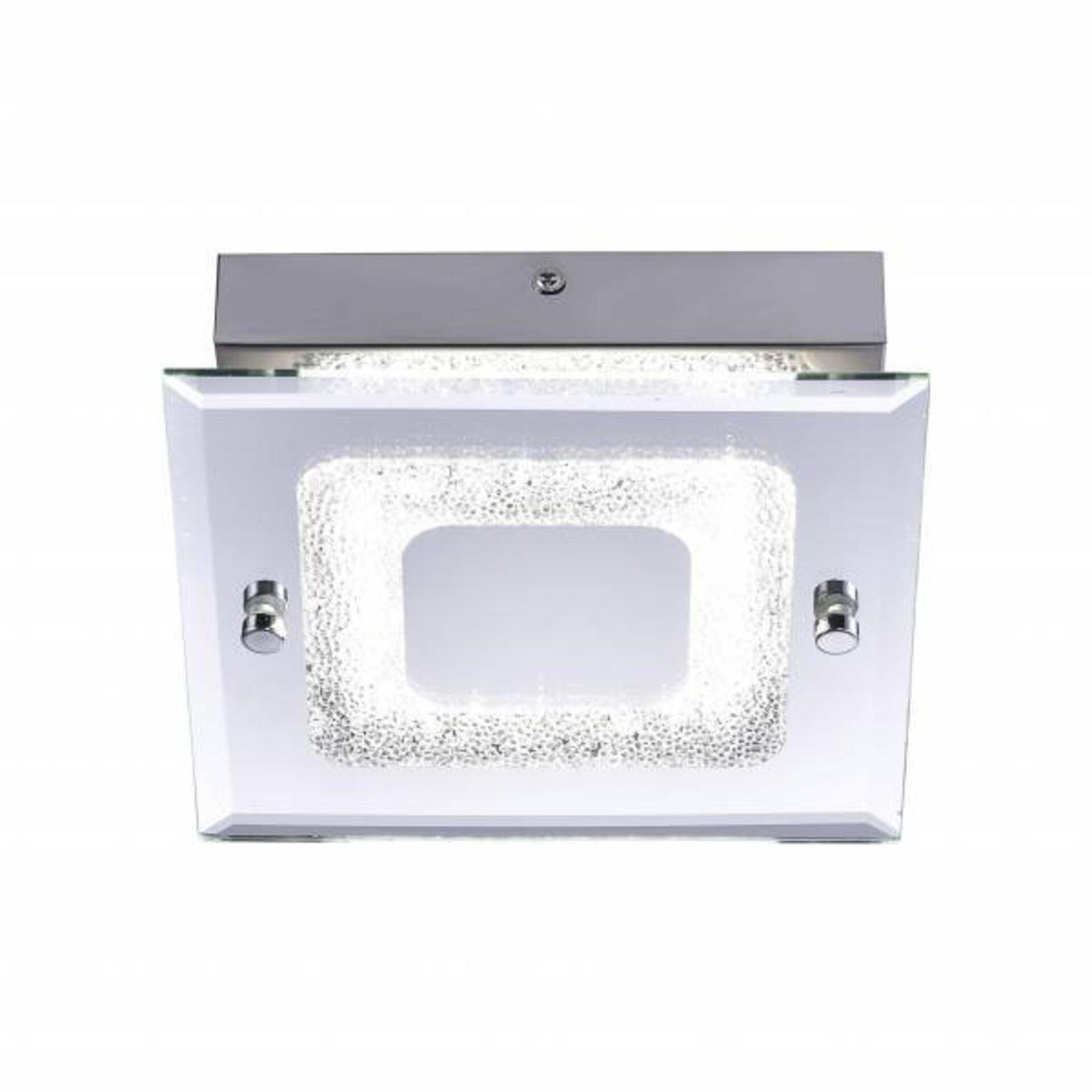 Deckenleuchte LISA Leuchtendirekt Metall silber 18 x 6 x 18 cm