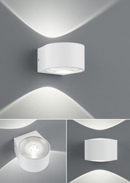 Bad-Wandleuchte B-Leuchten Metall weiß ca. 12 cm x 7 cm x 12 cm