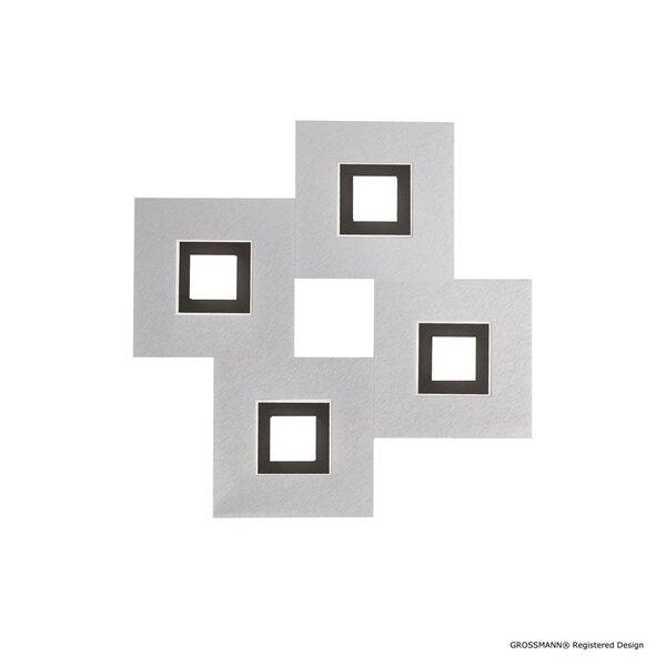 Deckenleuchte Grossmann  Metall alu,schwarz ca. 50 cm x 5 cm x 50 cm