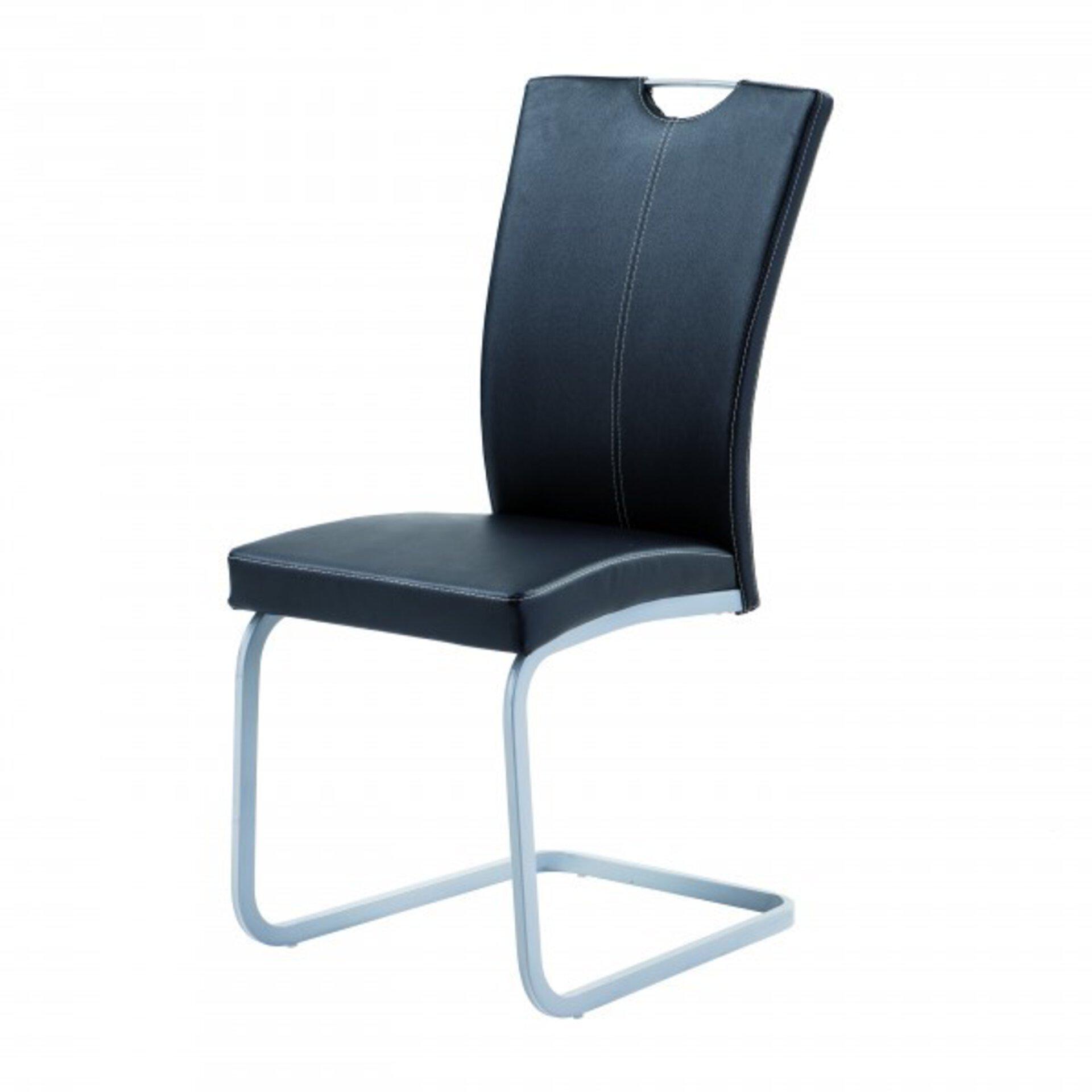 Stuhl TDD2245-25N Dinett Textil schwarz