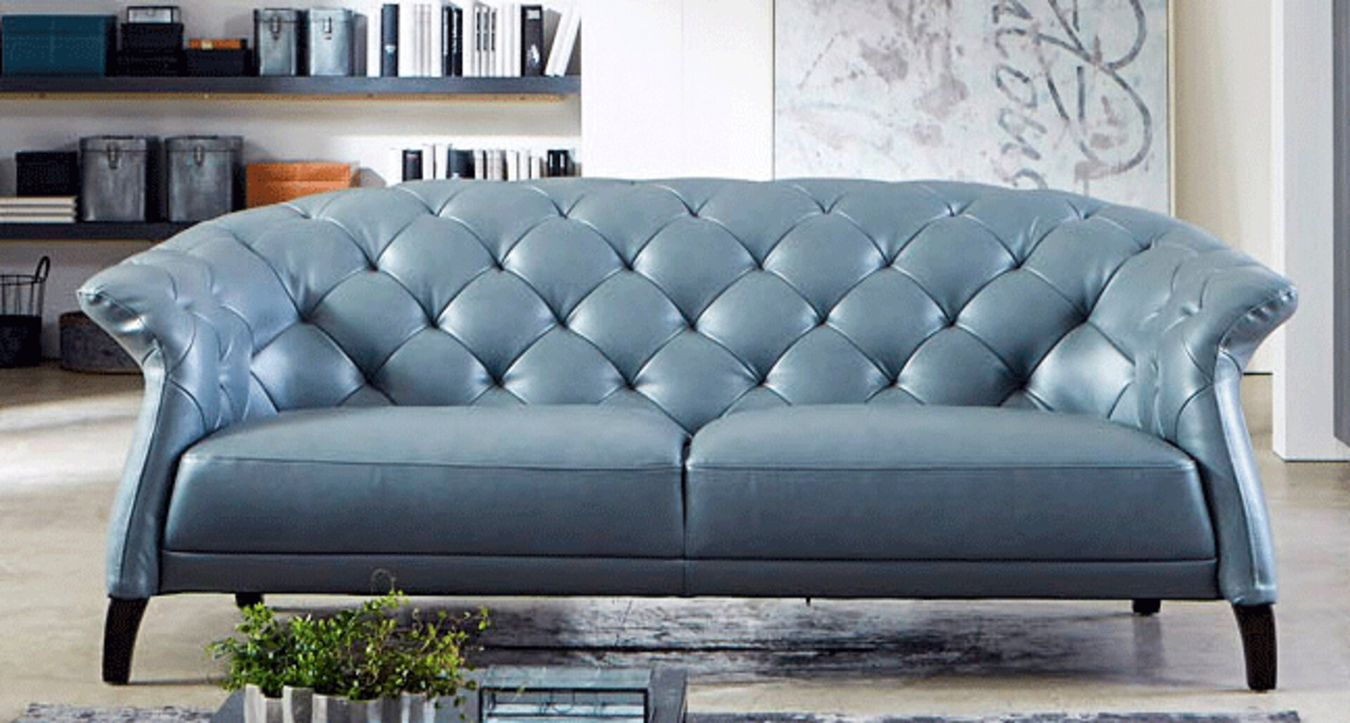 Sofa 3,5-Sitzer EX.007 CELECT Leder 99 x 81 x 256 cm