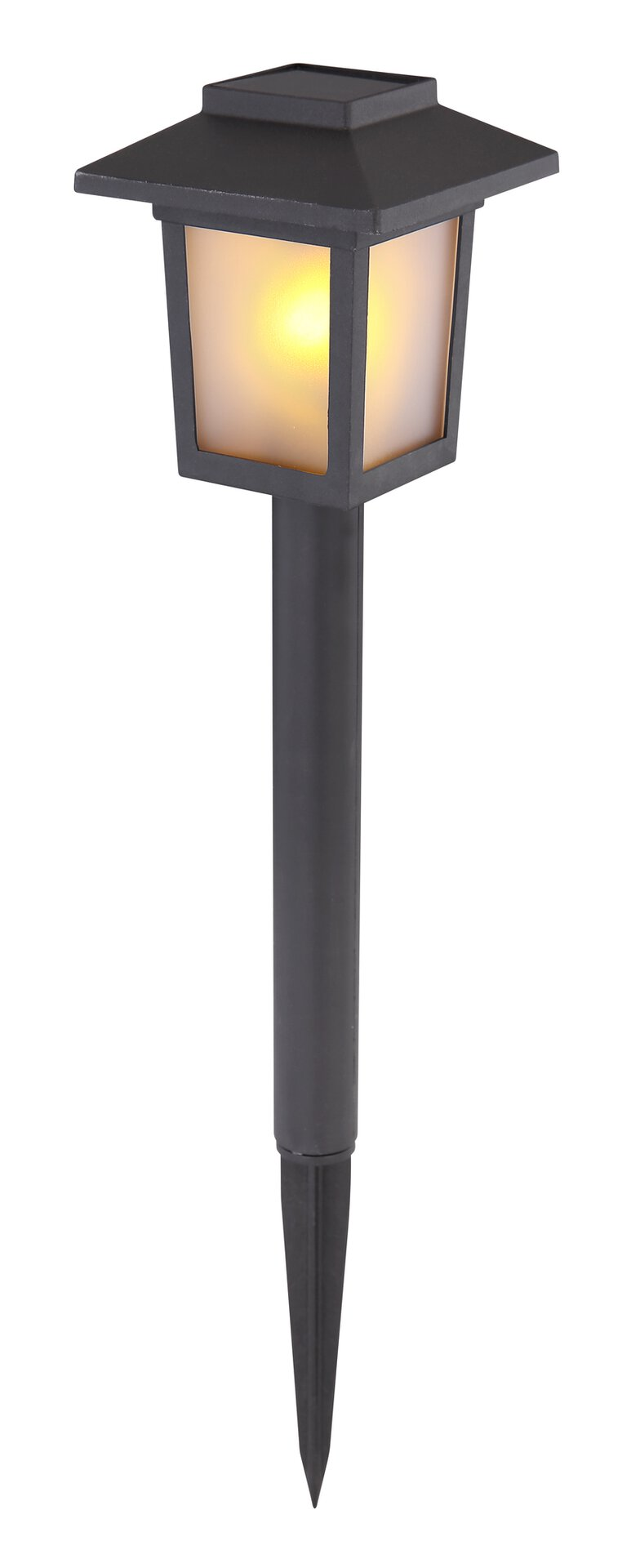 Solarleuchte Solar 3-er Set Globo Kunststoff schwarz 8 x 37 x 8 cm