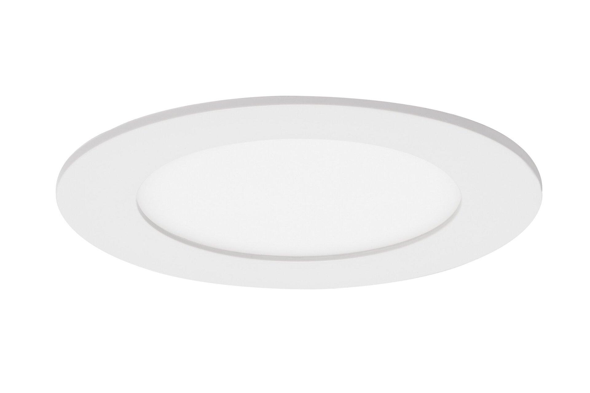 Einbauspot Flat In Briloner Metall weiß 12 x 3 x 12 cm