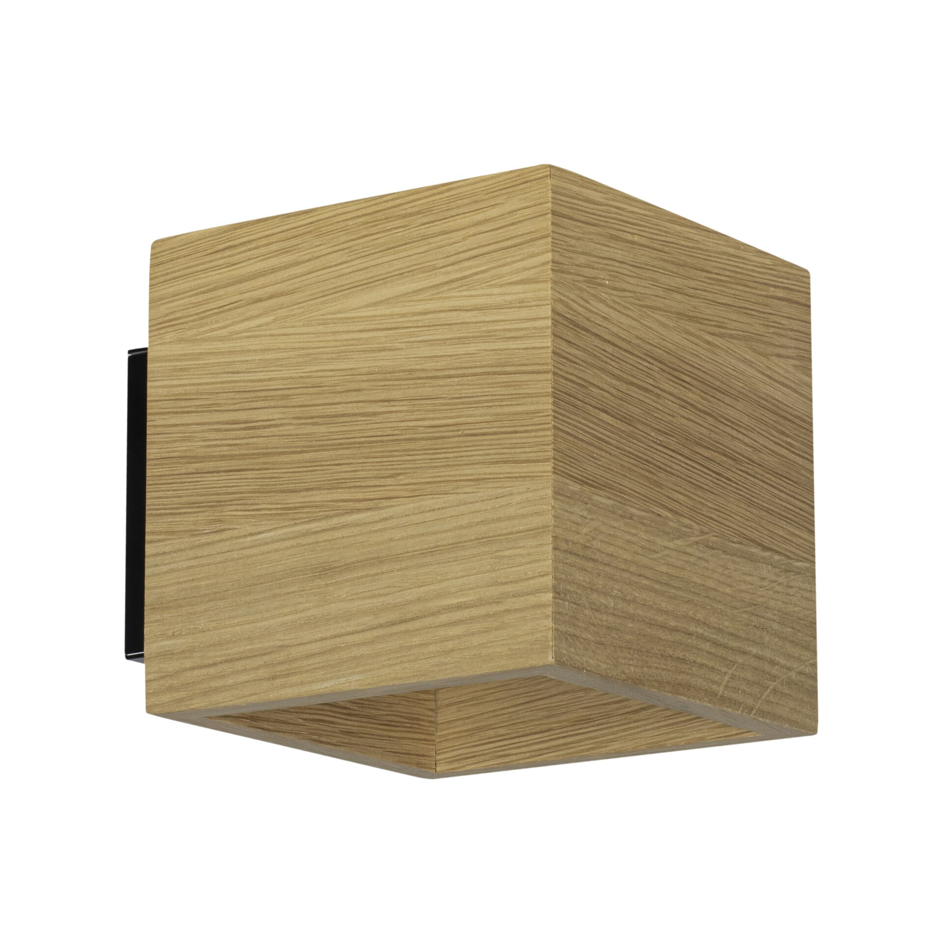 Wandleuchte BARRIS MONDO Holz braun 11 x 13 x 11 cm