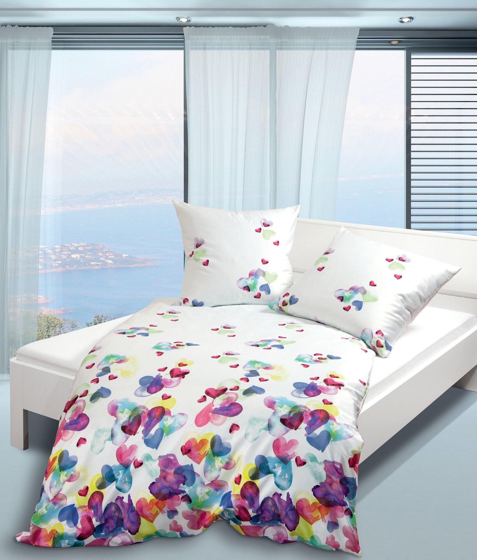 Satin-Bettwäsche Modern Art Janine Textil 135 x 200 cm