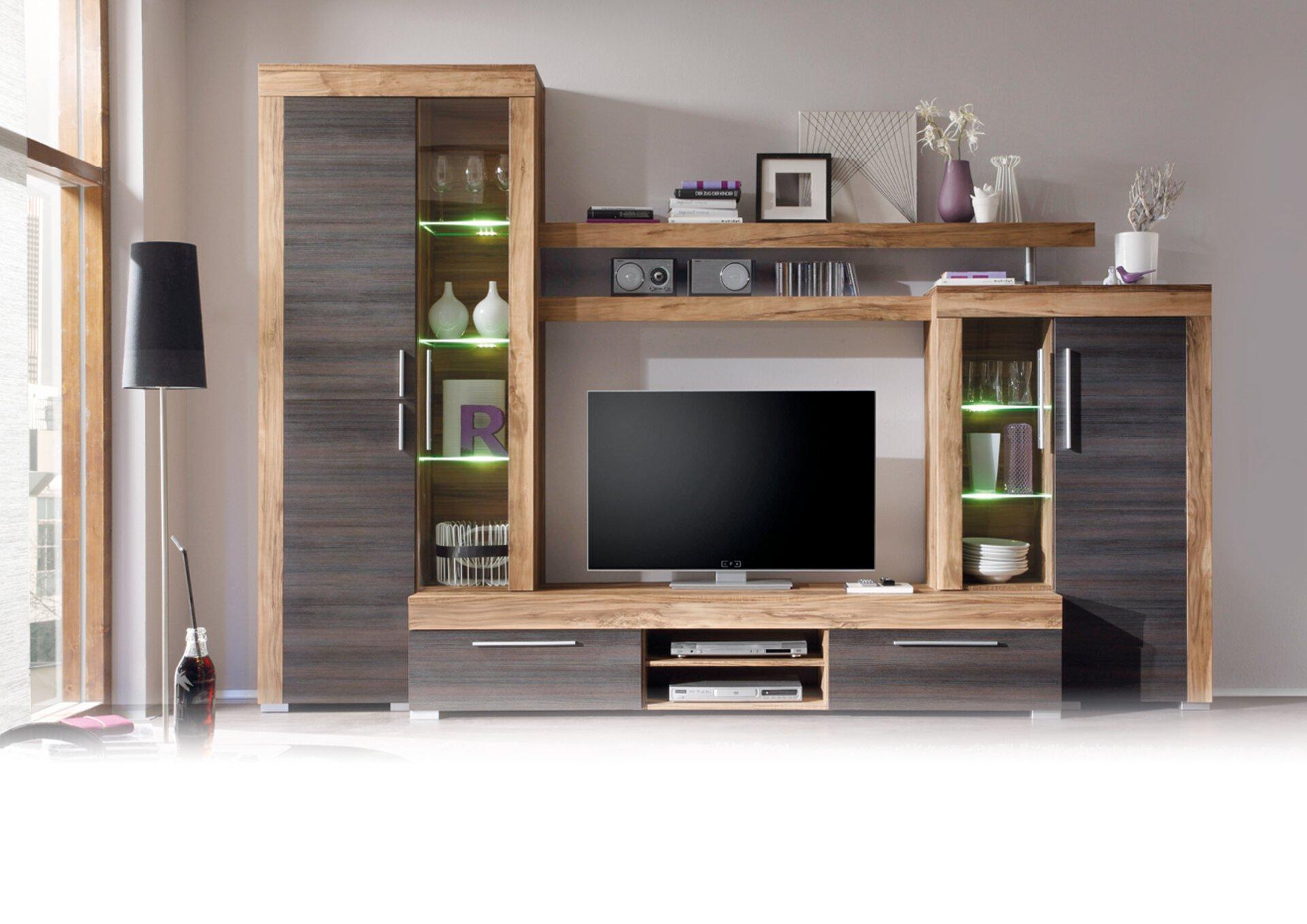 Wohnwand BOOM CELECT Holzwerkstoff braun 50 x 212 x 308 cm