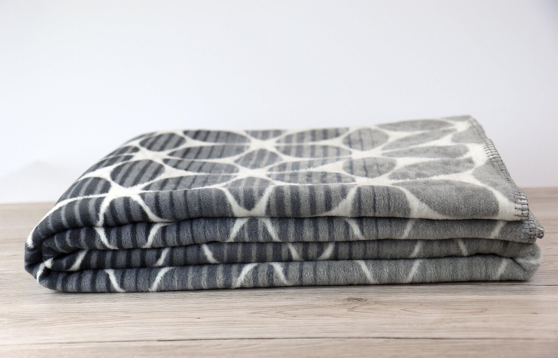 Jacquard Decke Trends Ibena Textil grau 150 x 200 cm