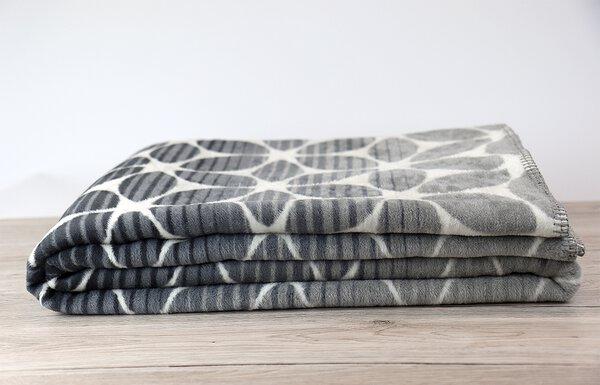 Jacquard Decke Ibena Textil grau/weiß