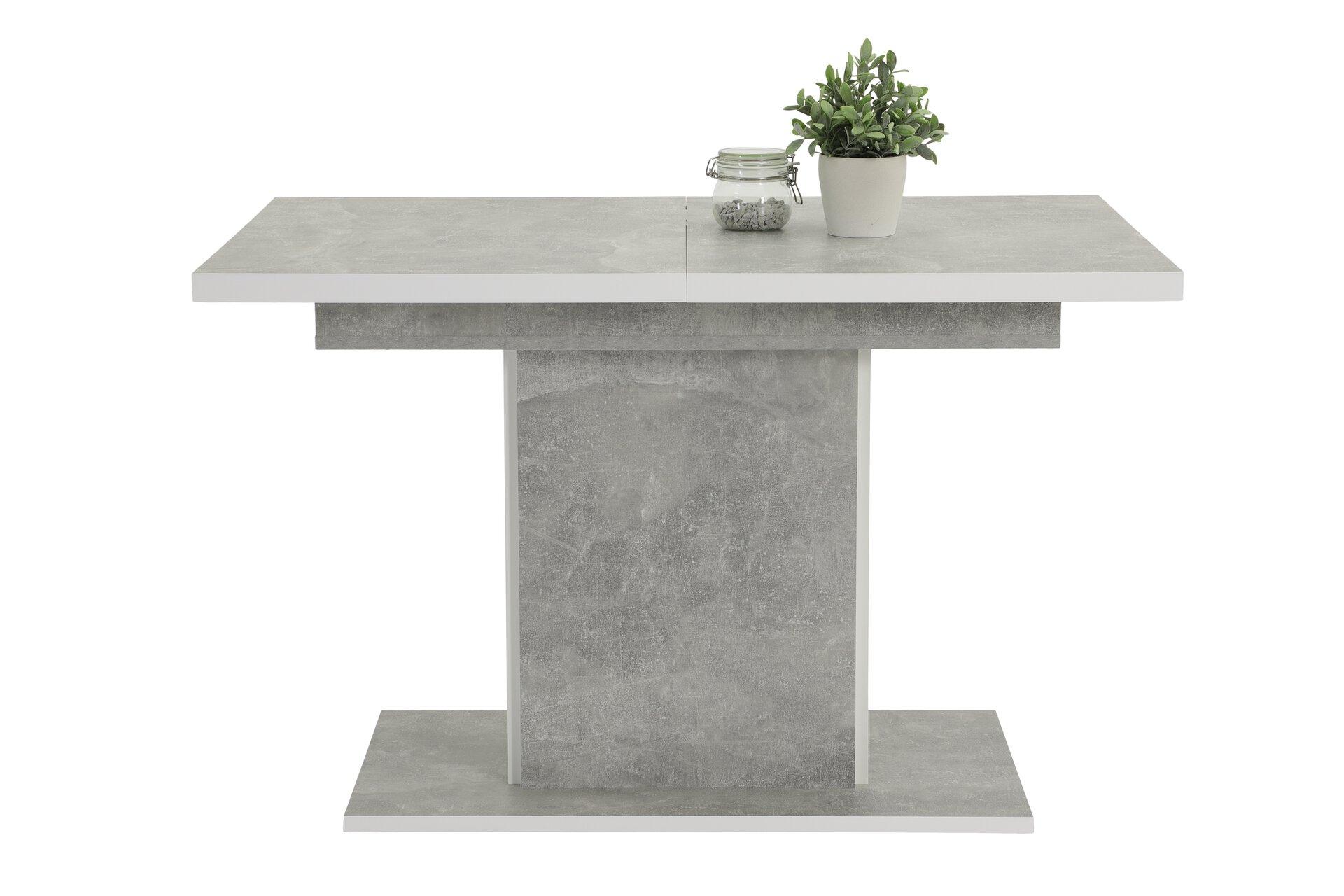 Esstisch ALICE Dinett Holzwerkstoff grau 80 x 76 x 120 cm