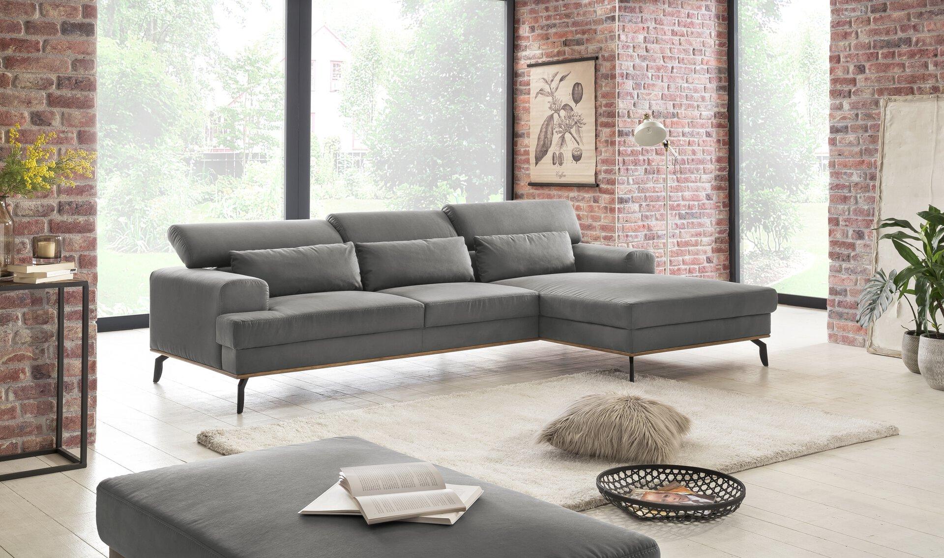 Ecksofa PEP Vito Textil grau 174 x 74 x 285 cm