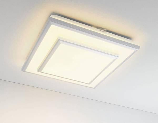Deckenleuchte Casa Nova Kunststoff weiß ca. 33 cm x 6 cm x 33 cm