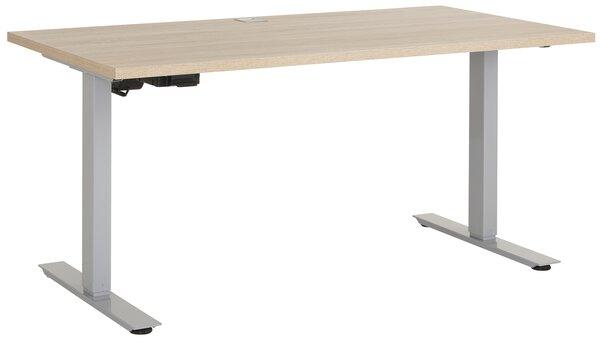 Schreibtisch Maja Möbel Holzwerkstoff, Metall Sonoma Eiche Nachbildung