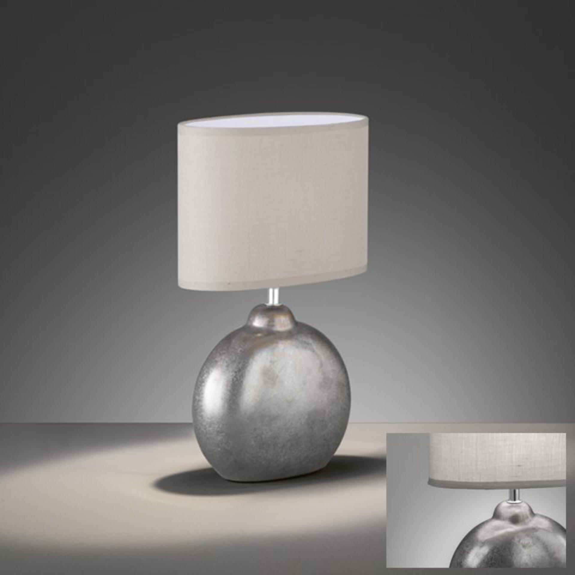 Tischleuchte Lino Fischer-Honsel Keramik grau 13 x 39 x 23 cm