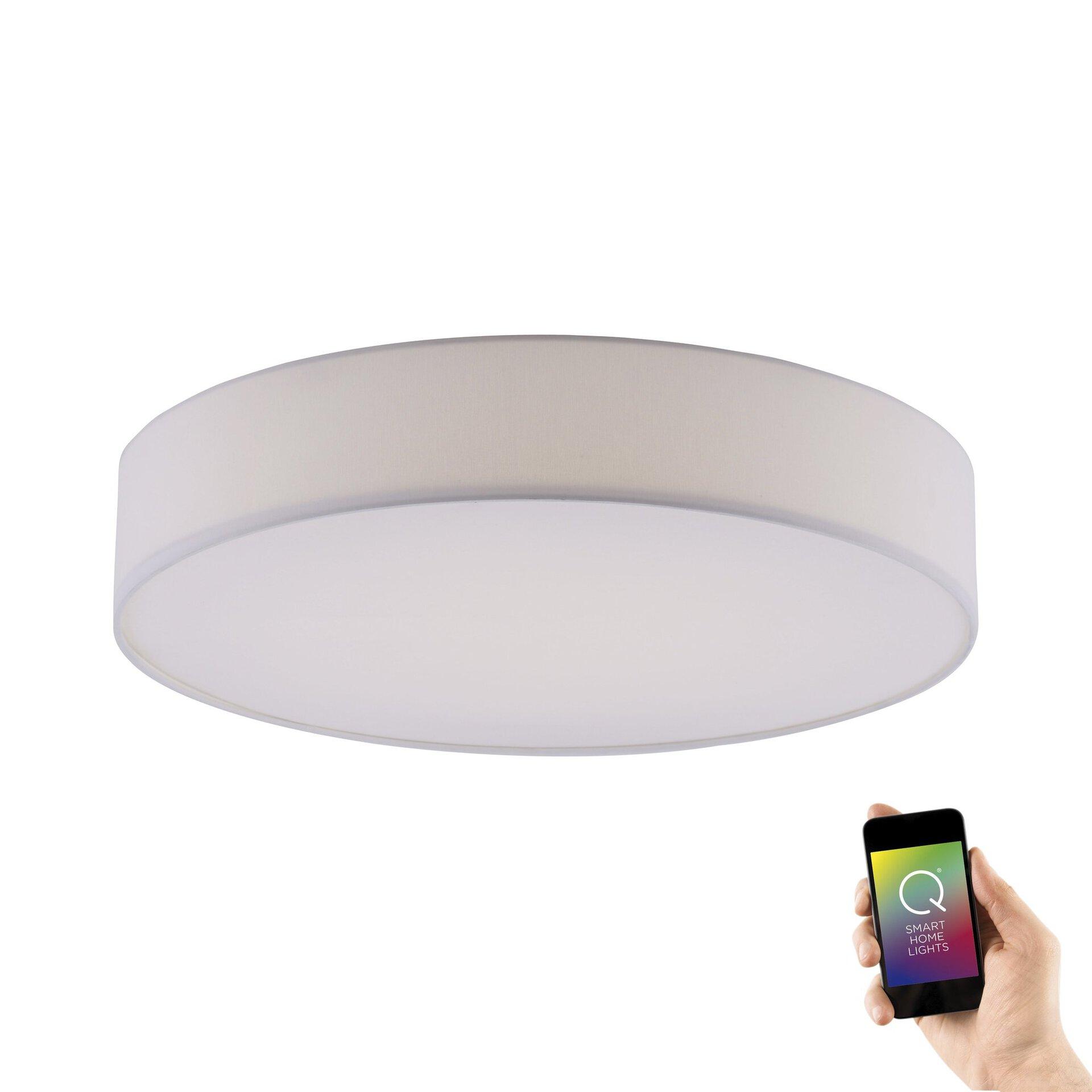 Smart-Home-Leuchten Q-KIARA Paul Neuhaus Metall weiß 58 x 11 x 58 cm