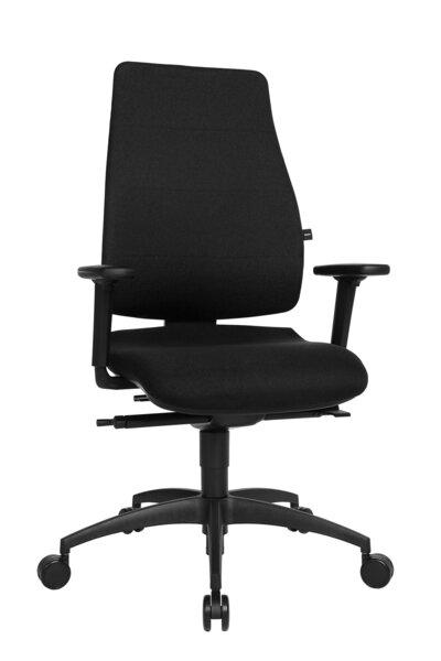 Büro-Drehstuhl Topstar Kunststoff, Textil Stoff Schwarz ca. 70 cm x 120 cm x 70 cm
