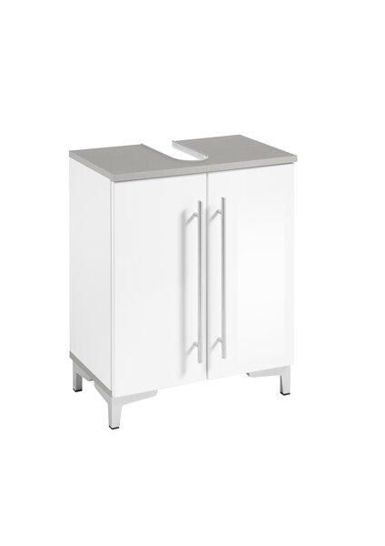 Waschbeckenunterschrank Vito Holzwerkstoff MDF Weiß Hochglanz ca. 31 cm x 62 cm x 50 cm