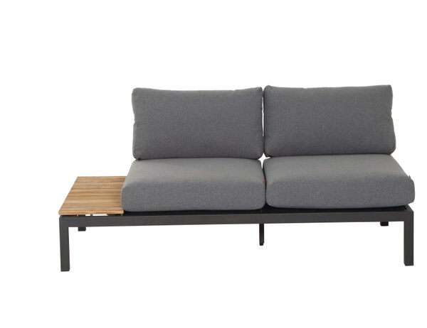 Sofa 2-Sitzer Siena Garden Metall, Textil Grau ca. 84 cm x 70 cm x 210 cm