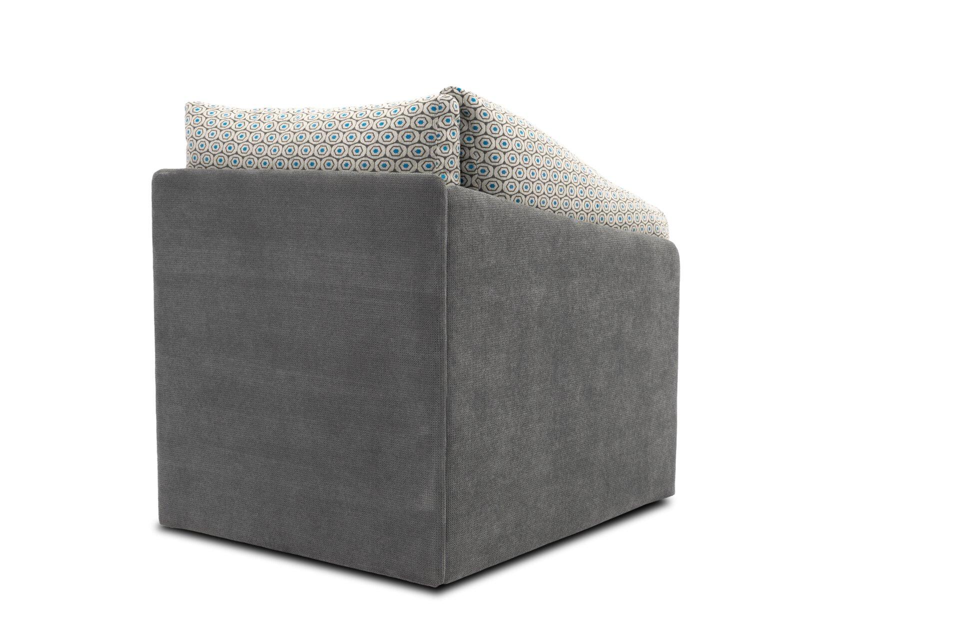 Sofa 1-Sitzer DELTA tiny.collection Textil 116 x 83 x 81 cm