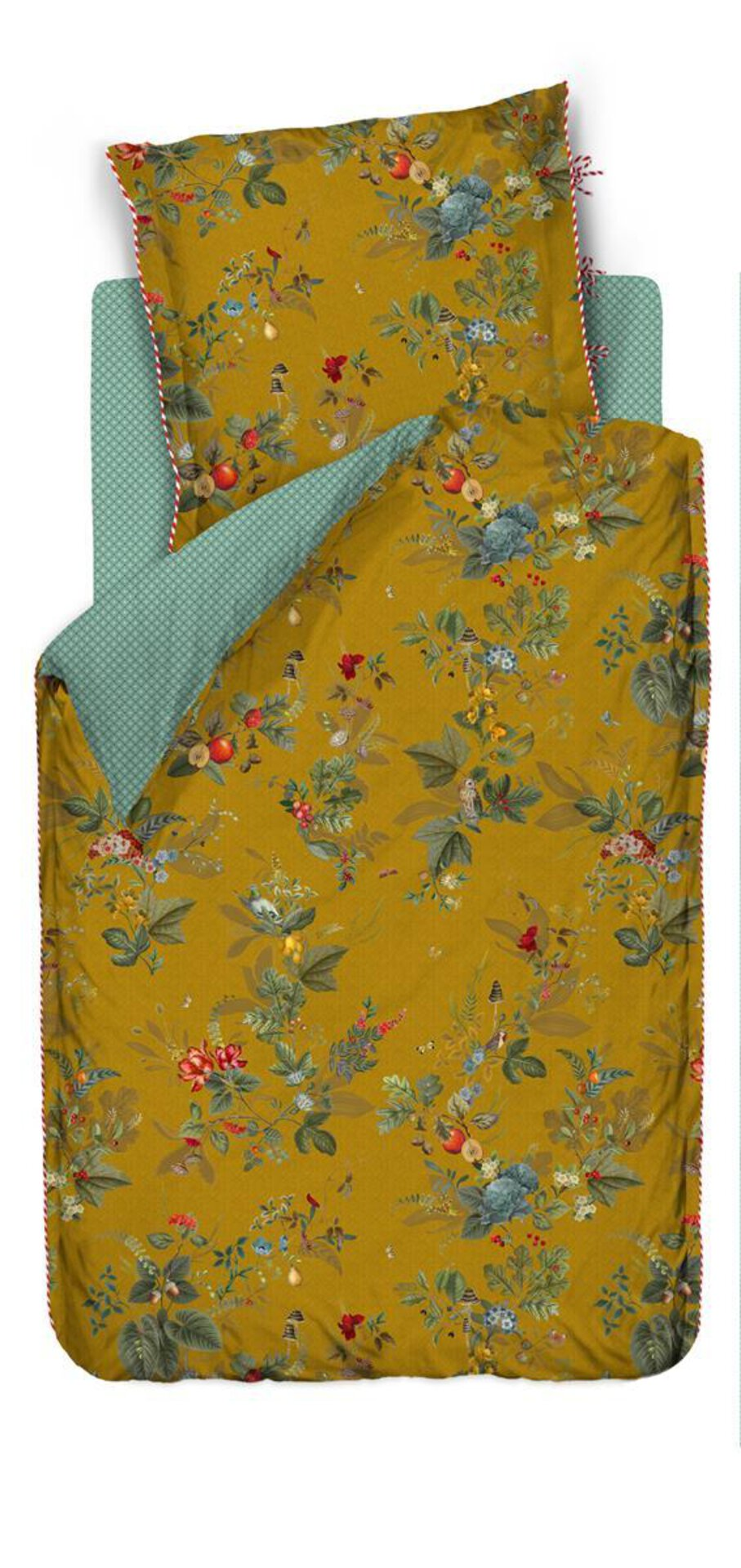 Bettwäsche Fallin Leaf PIP STUDIO Textil gelb 135 x 200 cm
