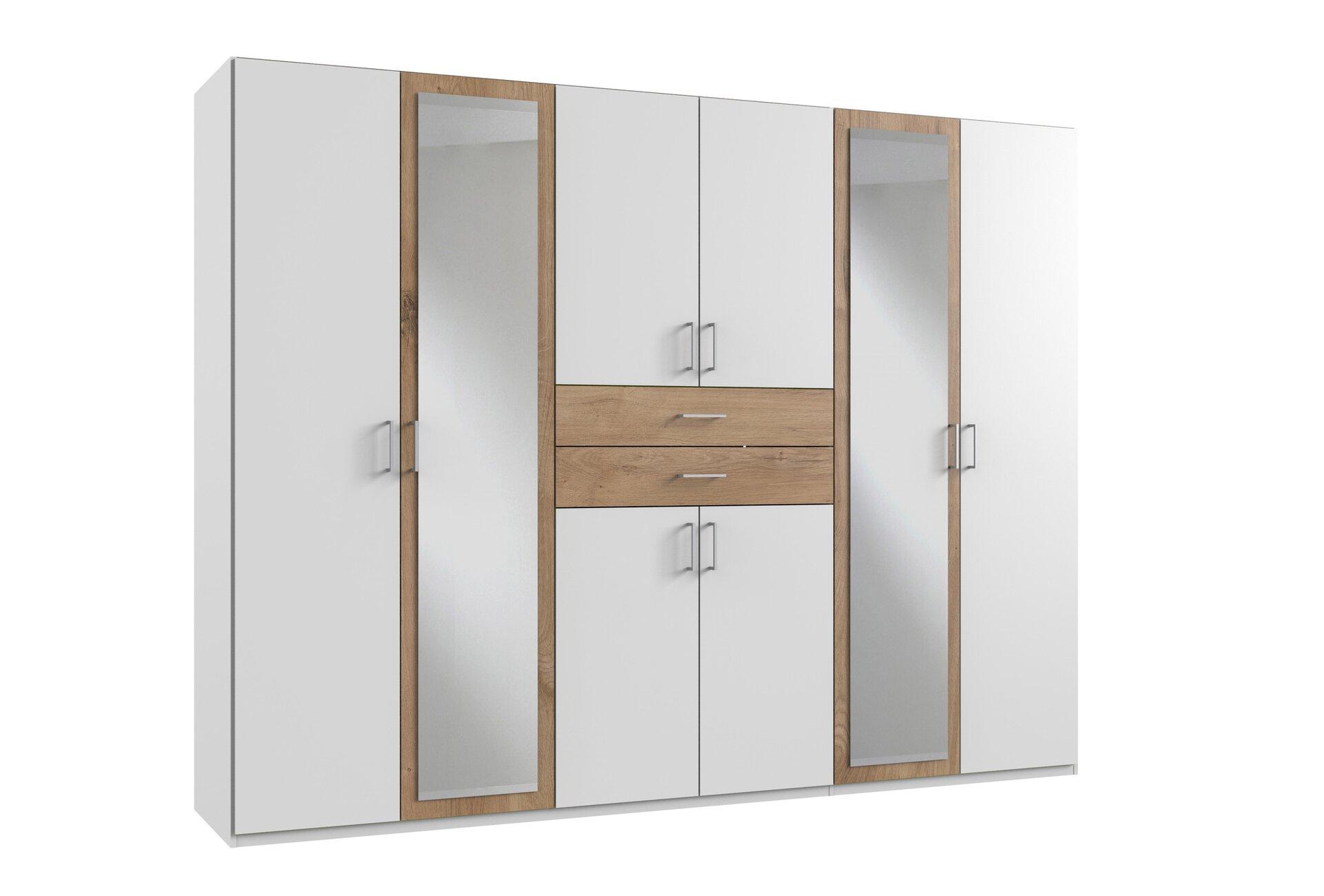 Drehtürenschrank DIVER Wimex Wohnbedarf Holzwerkstoff weiß 58 x 210 x 270 cm