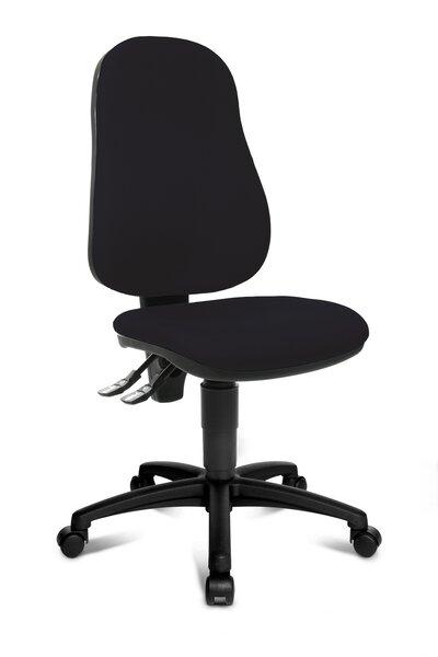 Büro-Drehstuhl Topstar Kunststoff, Textil Stoff Schwarz ca. 56 cm x 109 cm x 56 cm