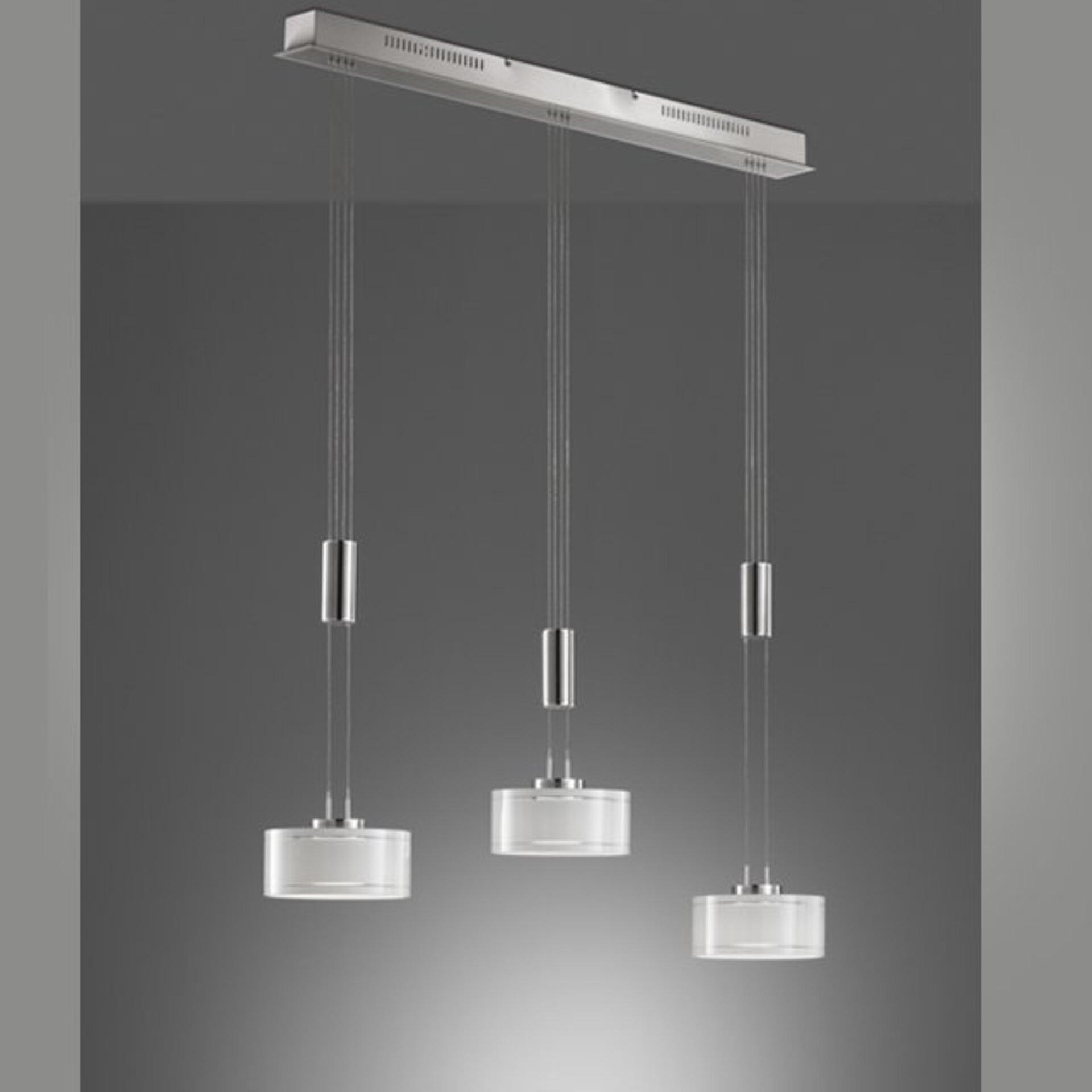 Hängeleuchte Lavin Fischer-Honsel Metall silber 160 x 96 cm
