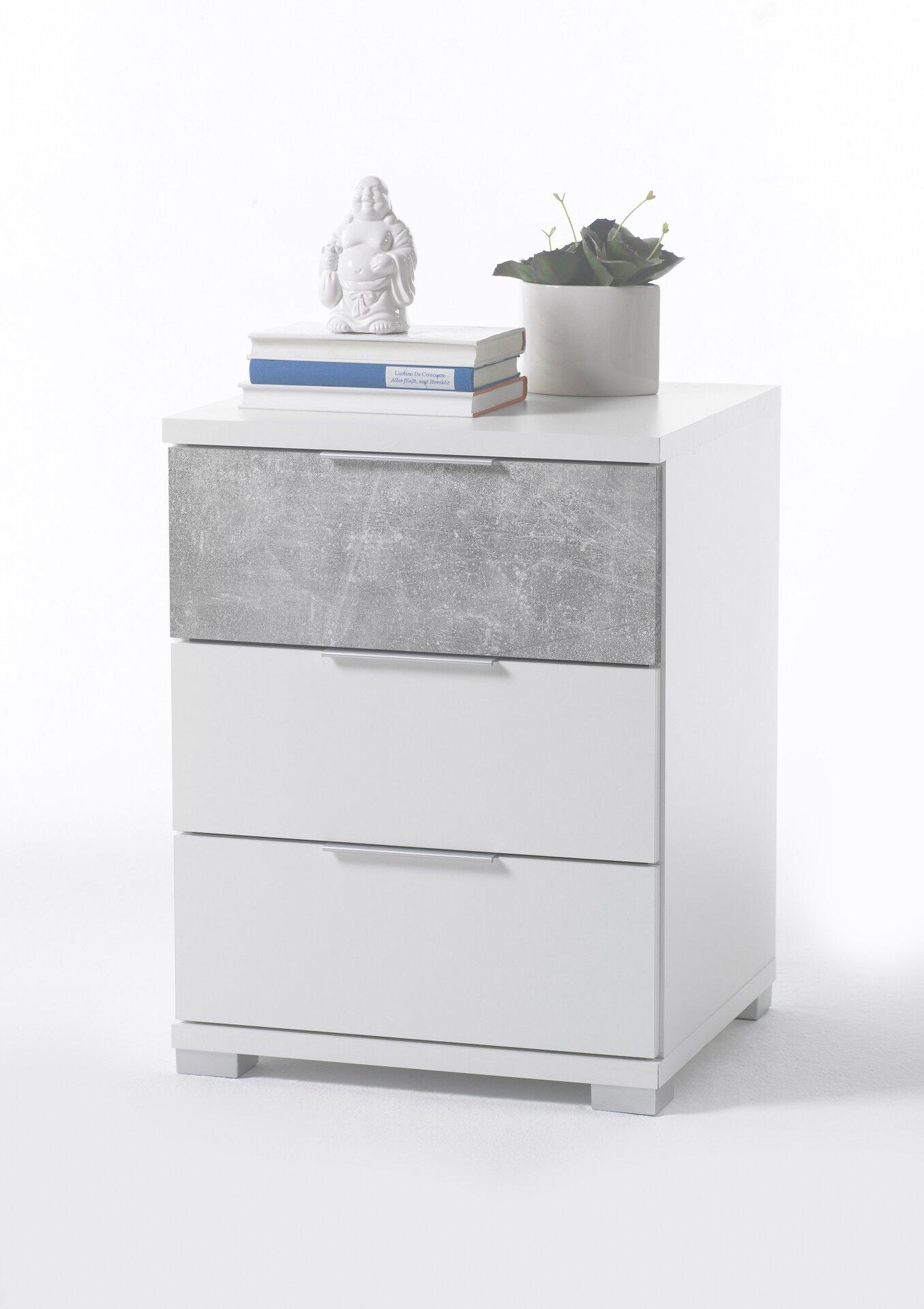 Nachttisch Dreamoro Holzwerkstoff weiß 42 x 61 x 46 cm