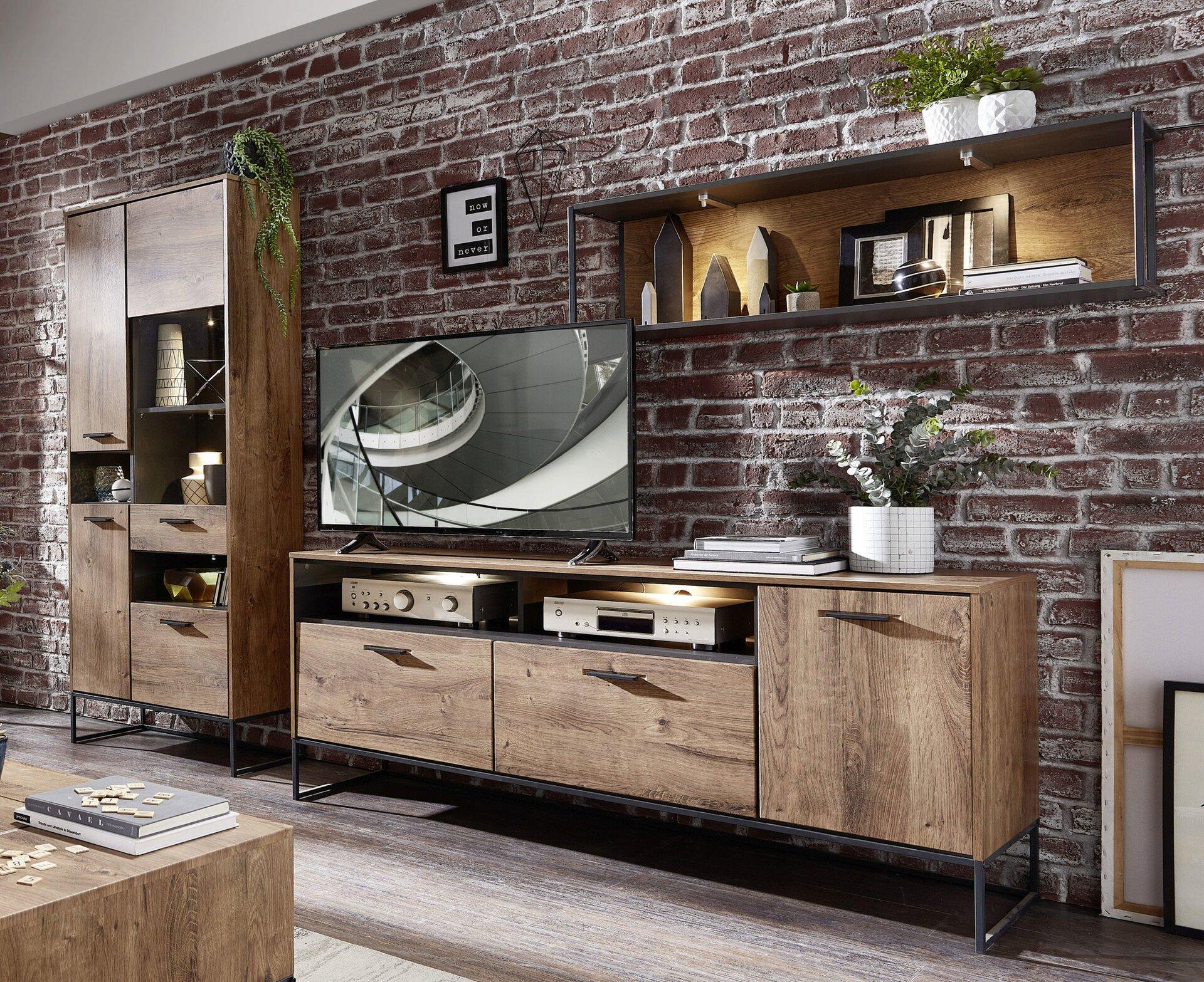 Wohnwand SWEEP Vito Holzwerkstoff mehrfarbig 48 x 196 x 300 cm