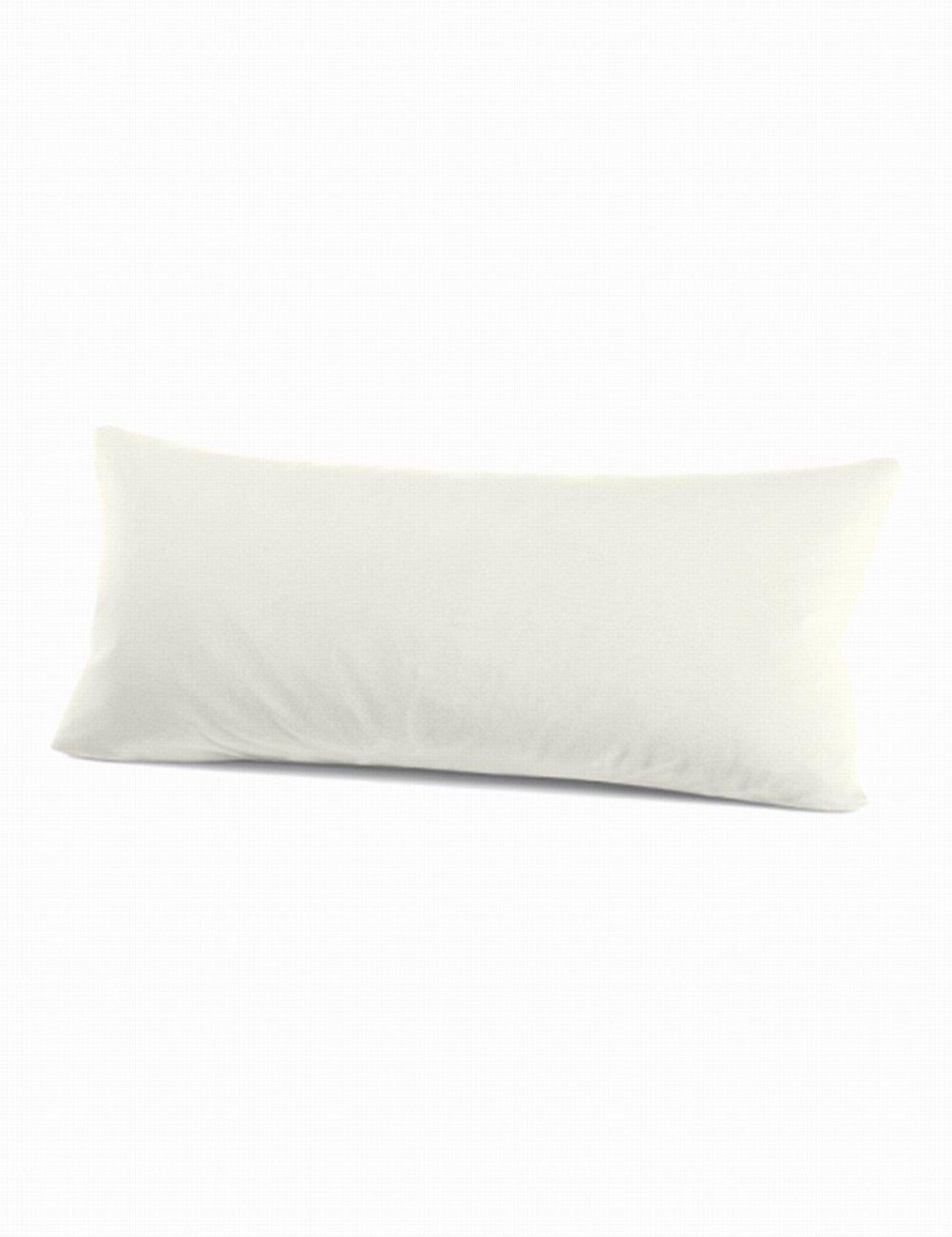 Kissenhülle Schlafgut Textil weiß 40 x 80 cm