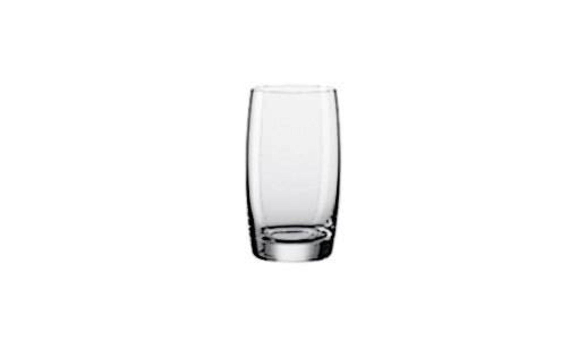 Icon für Trinkgläser ist das typische Glas in edlem, runden Design.