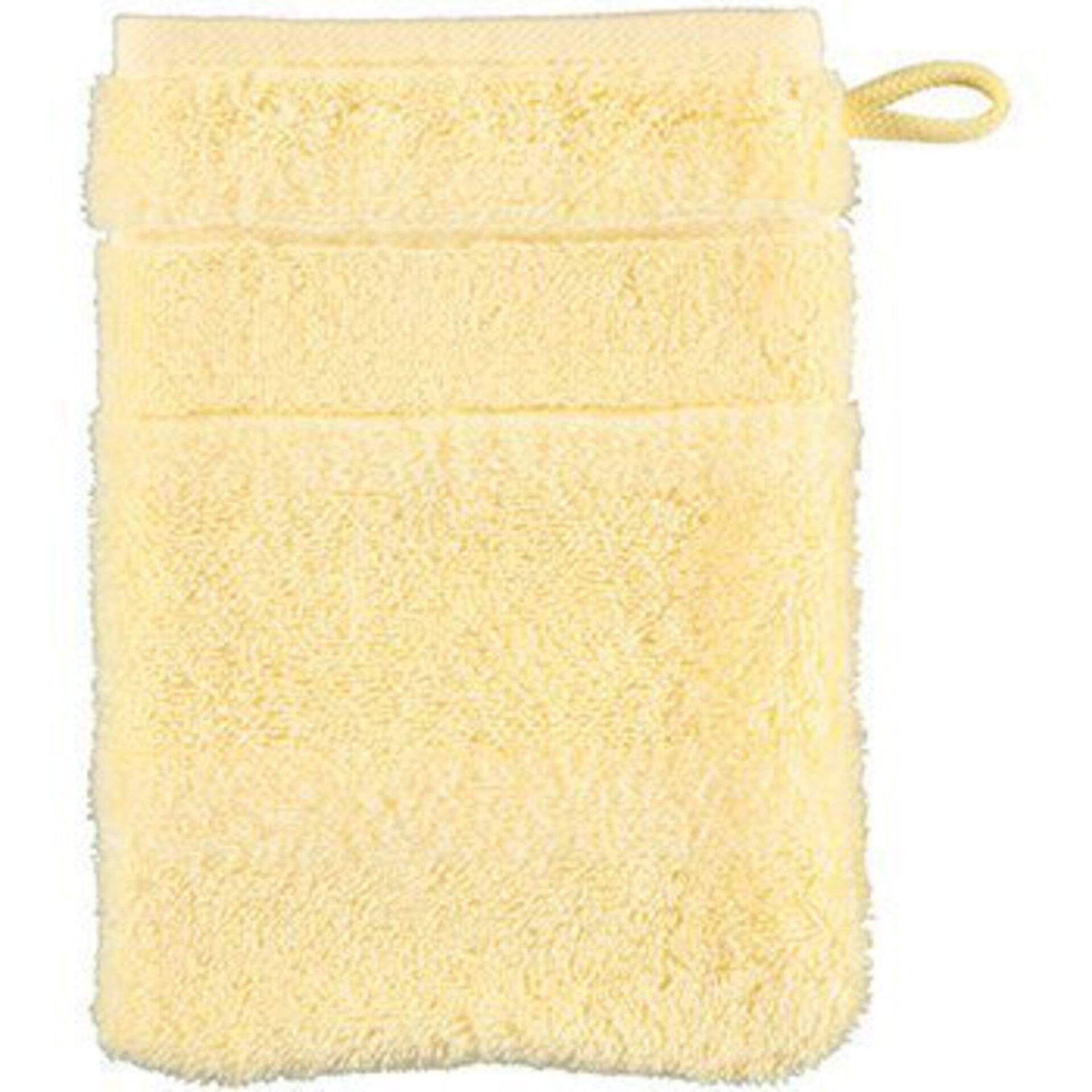Waschhandschuh Cawö Textil gelb 16 x 22 cm
