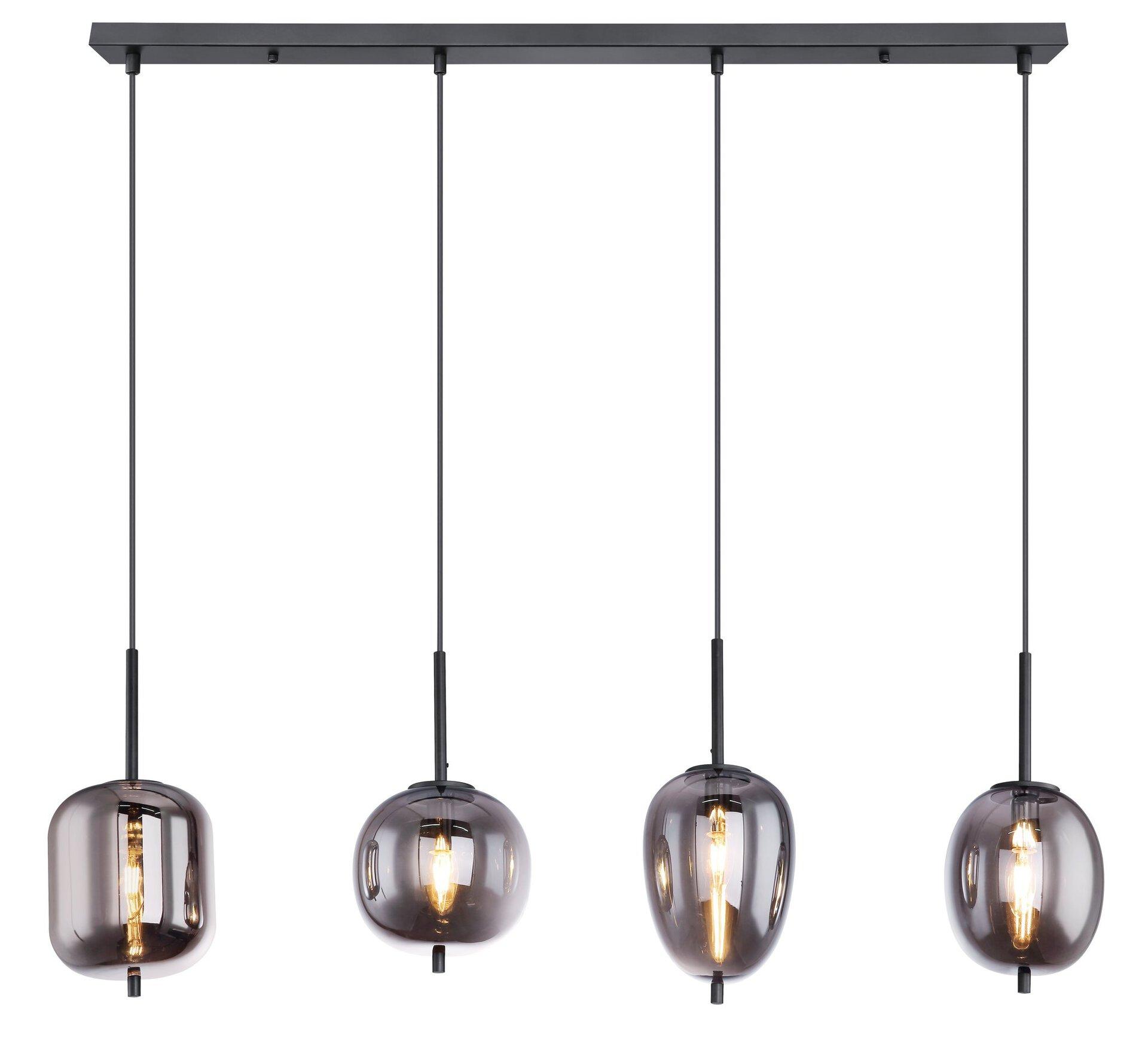 Hängeleuchte BLACKY Globo Metall schwarz 19 x 120 x 100 cm