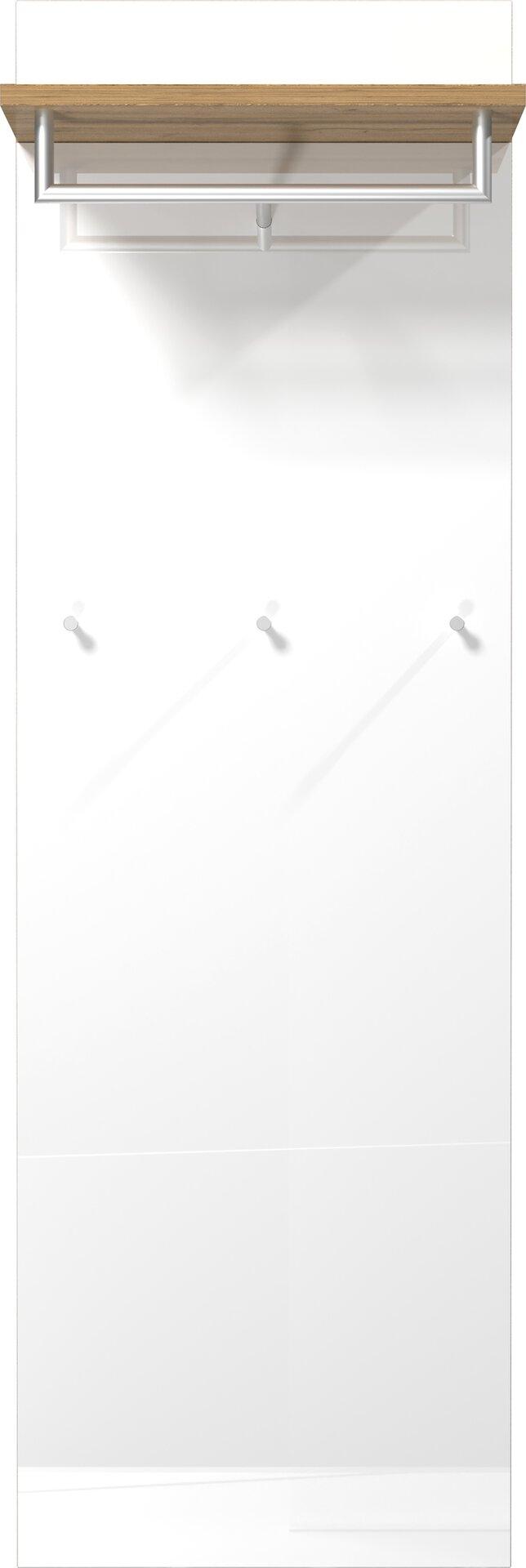 Garderobenpaneel Sintara  6017 3895-552 Vito Holzwerkstoff weiß 54 x 170 x