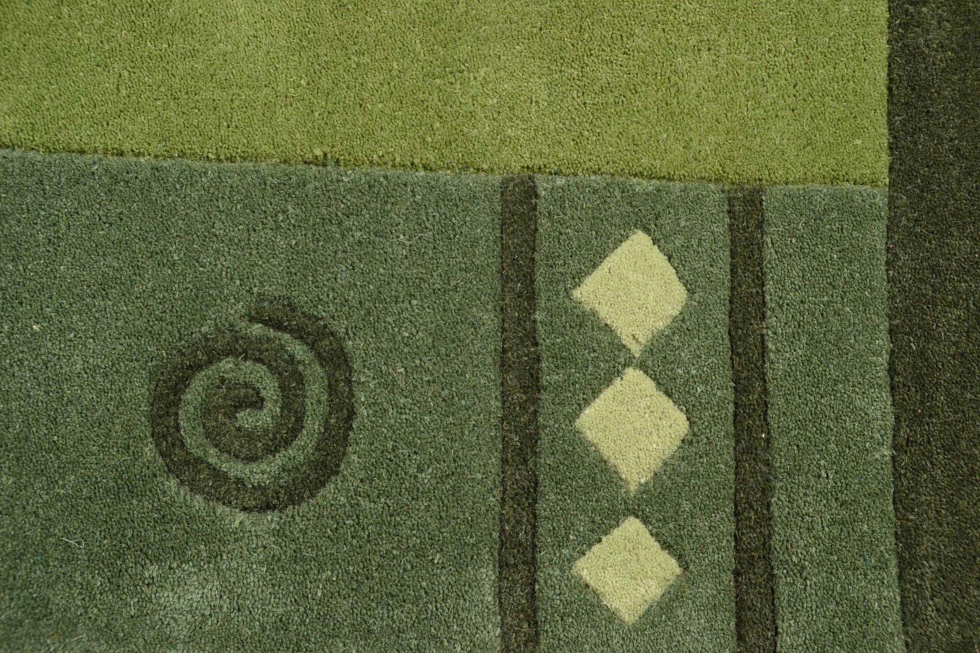 Handtuftteppich Ambadi Theko Textil grün 60 x 90 cm