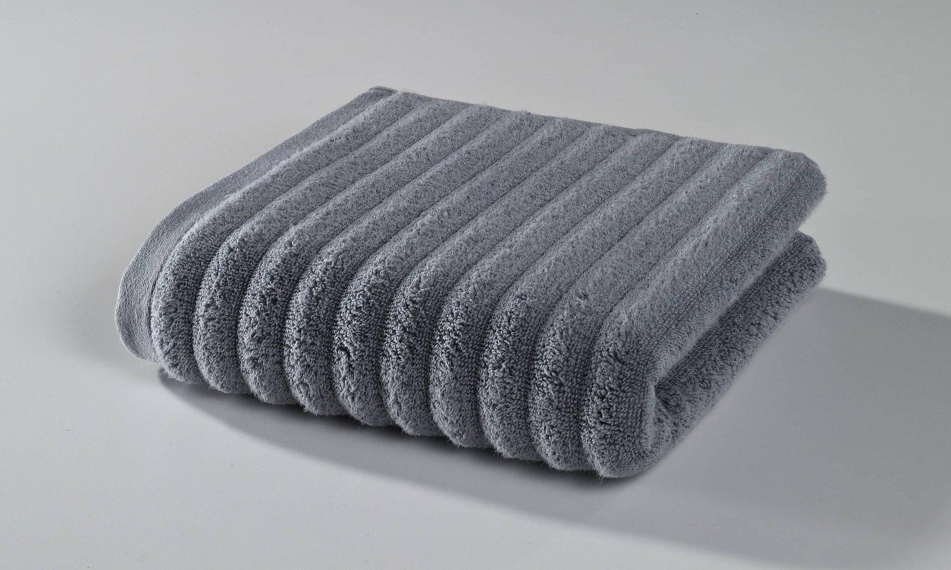 Handtuch Enjoy Kenborg Textil grau 50 x 100 cm