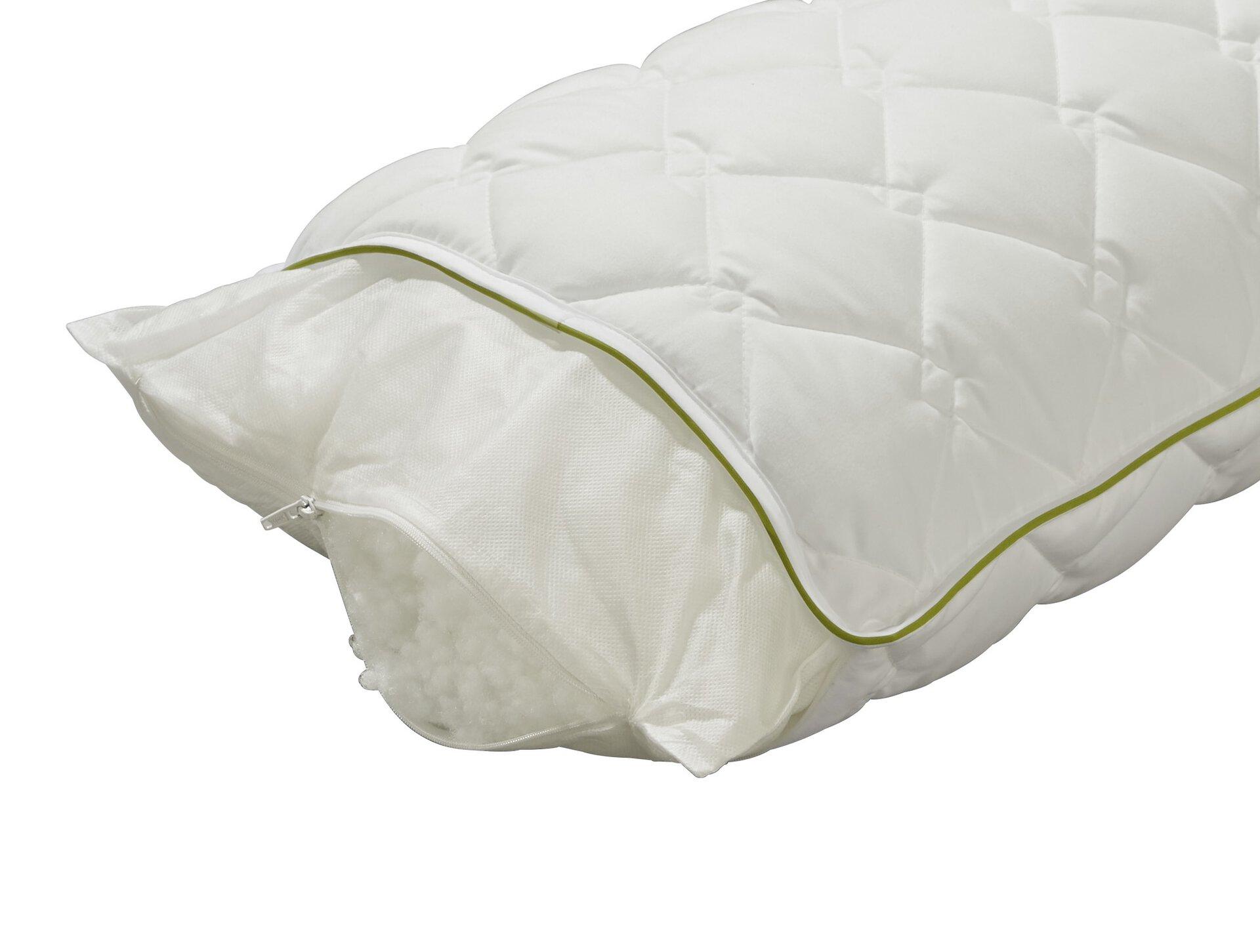 Kopfkissen Cyclafill ECO Badenia Irisette Greenline Textil weiß 40 x 80 cm