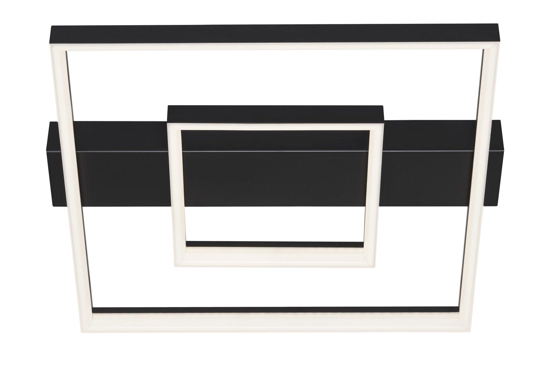 Deckenleuchte FRAME Briloner Metall schwarz 40 x 7 x 44 cm