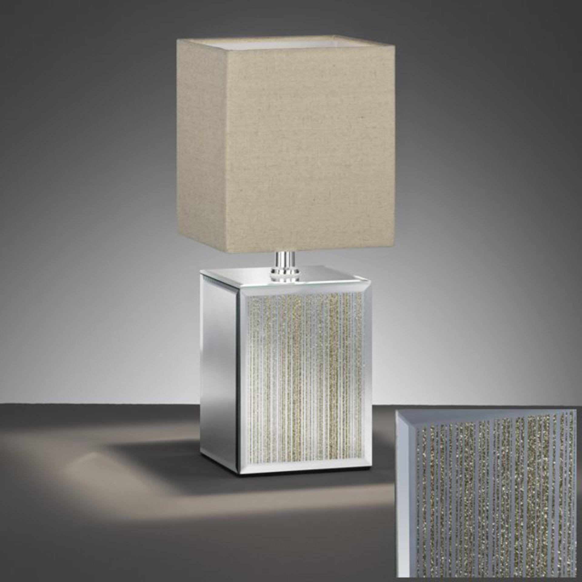 Tischleuchte Bert Fischer-Honsel Glas gold 15 x 25 x 15 cm
