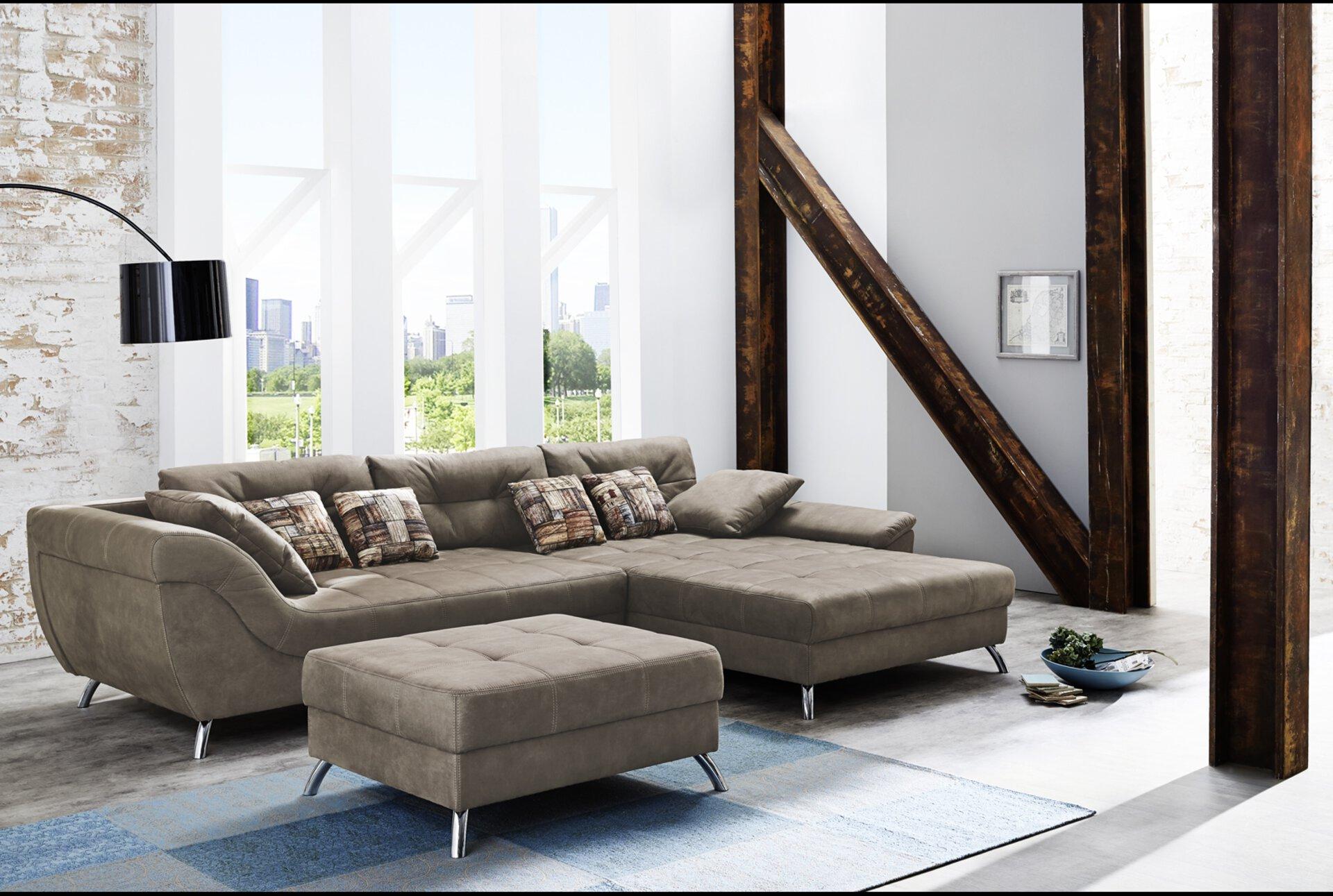 Hocker SAN FRANCISCO-SE CELECT Textil braun 86 x 44 x 103 cm