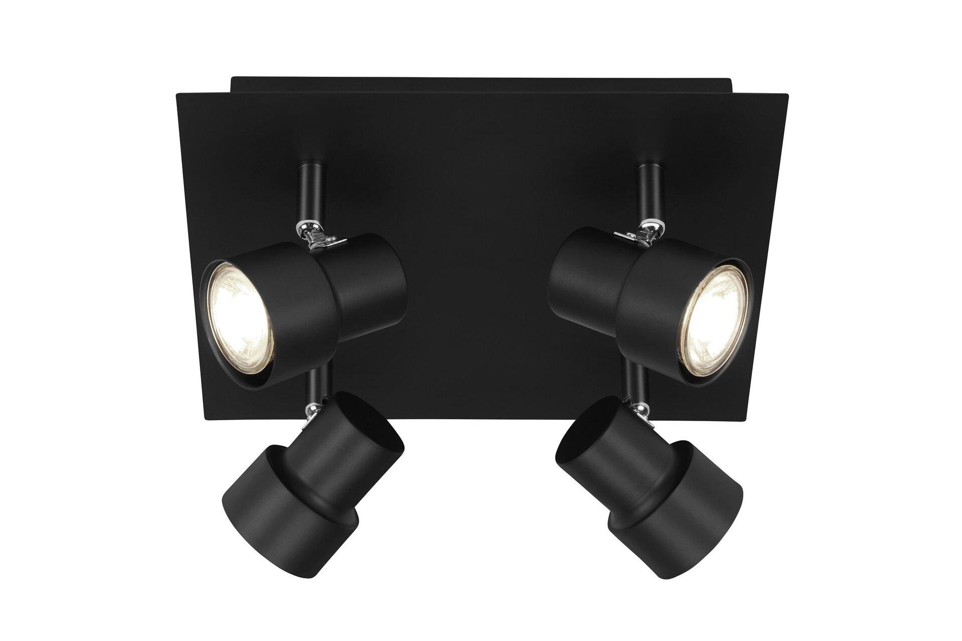 Strahler Spot Black Briloner Metall schwarz 27 x 12 x 27 cm