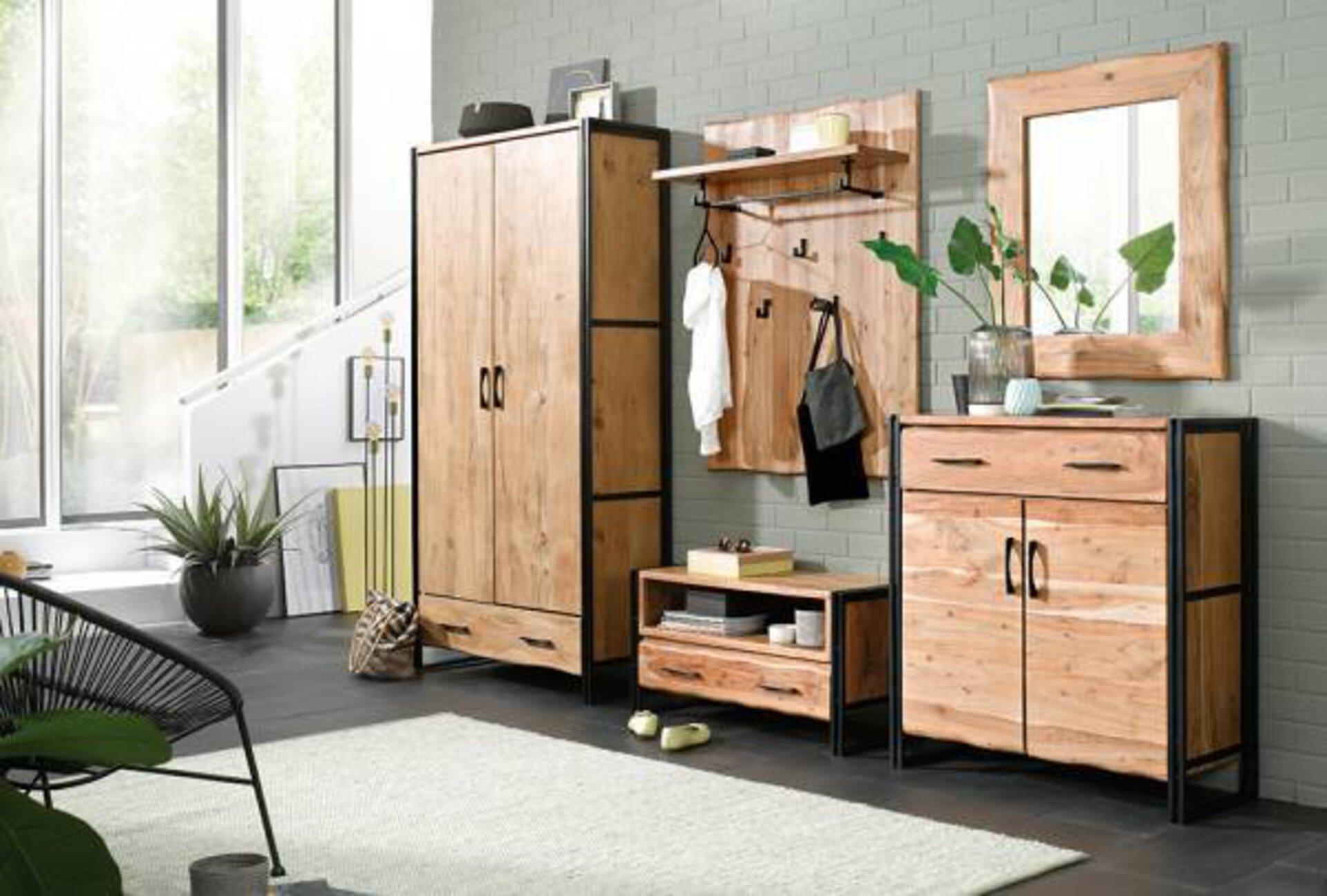 Garderobenbank Edge Vito Holzwerkstoff mehrfarbig 40 x 48 x 90 cm