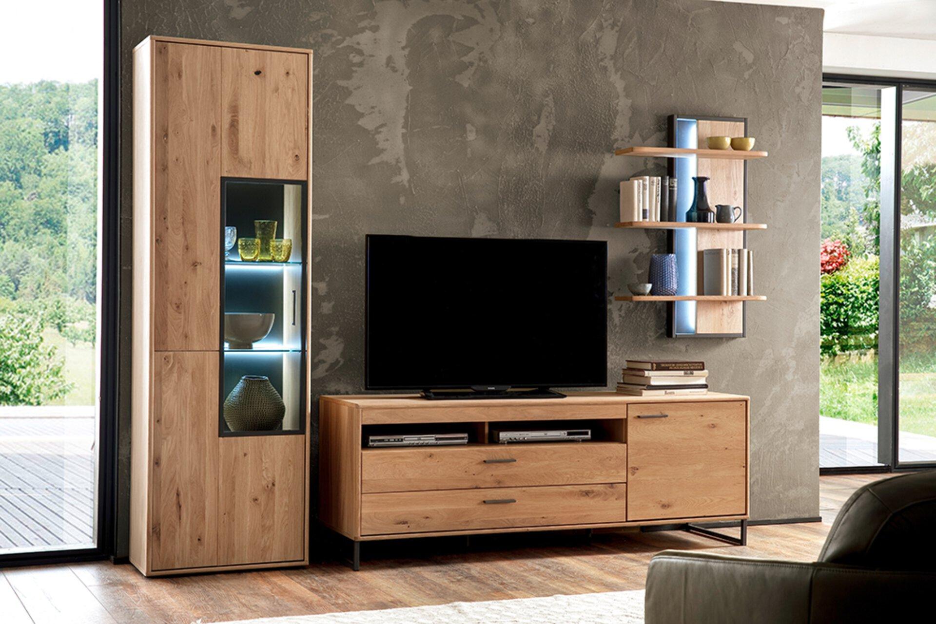 Wohnwand PUBLISH Vito Holzwerkstoff mehrfarbig 50 x 207 x 298 cm