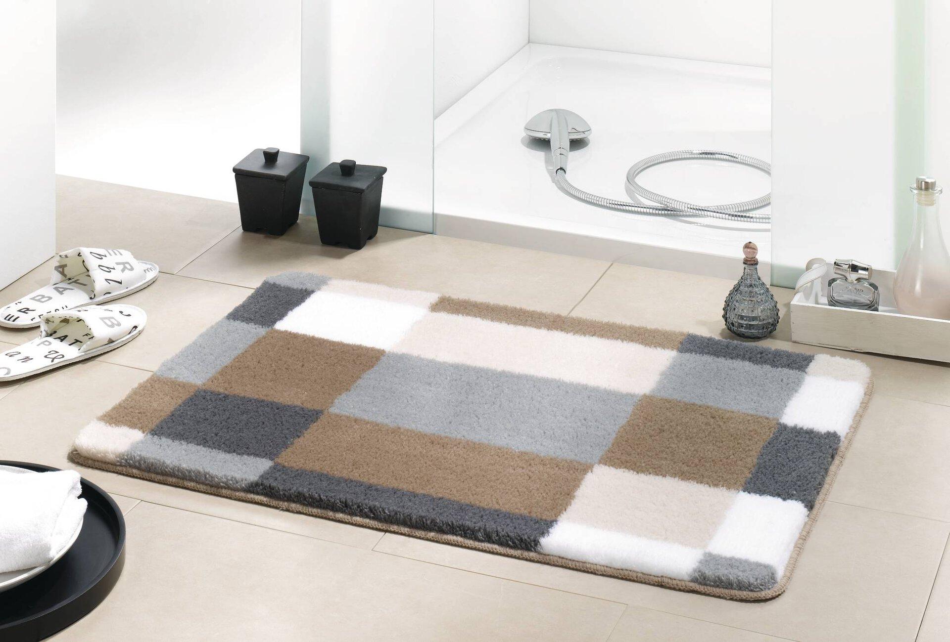 Badteppich Edge Kleine Wolke Textil beige 70 x 120 cm